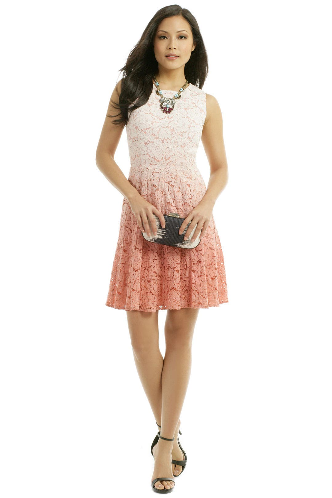 Peach Dip Dye Dress by Trina Turk for $30 - $55 | Rent the Runway