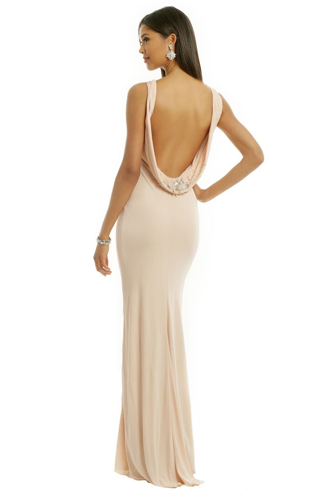 Jeweled Halo Gown by Badgley Mischka