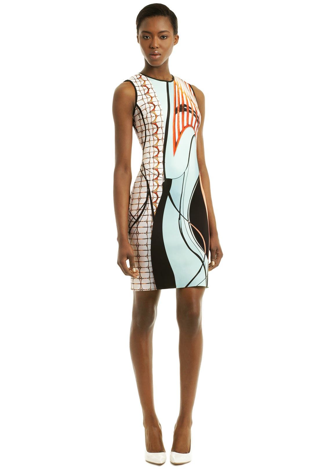 Palm Springs Print Dress by Clover Canyon