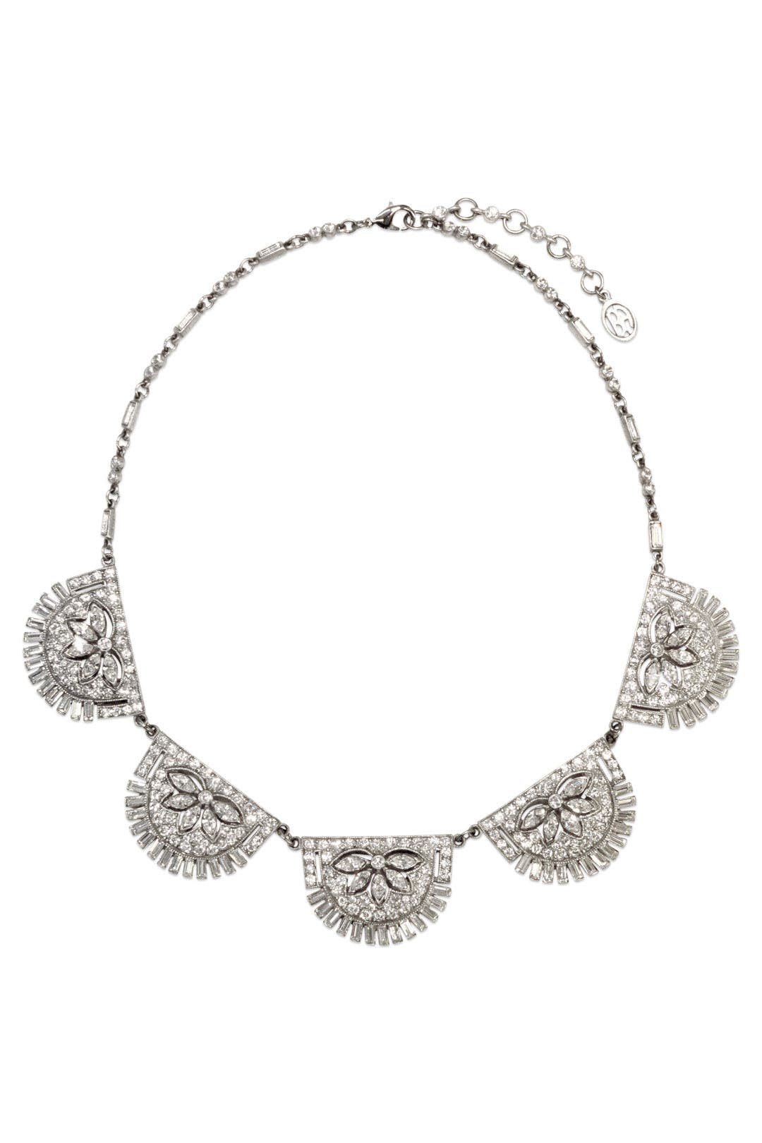 Deco Crystal Statement Necklace by Ben-Amun