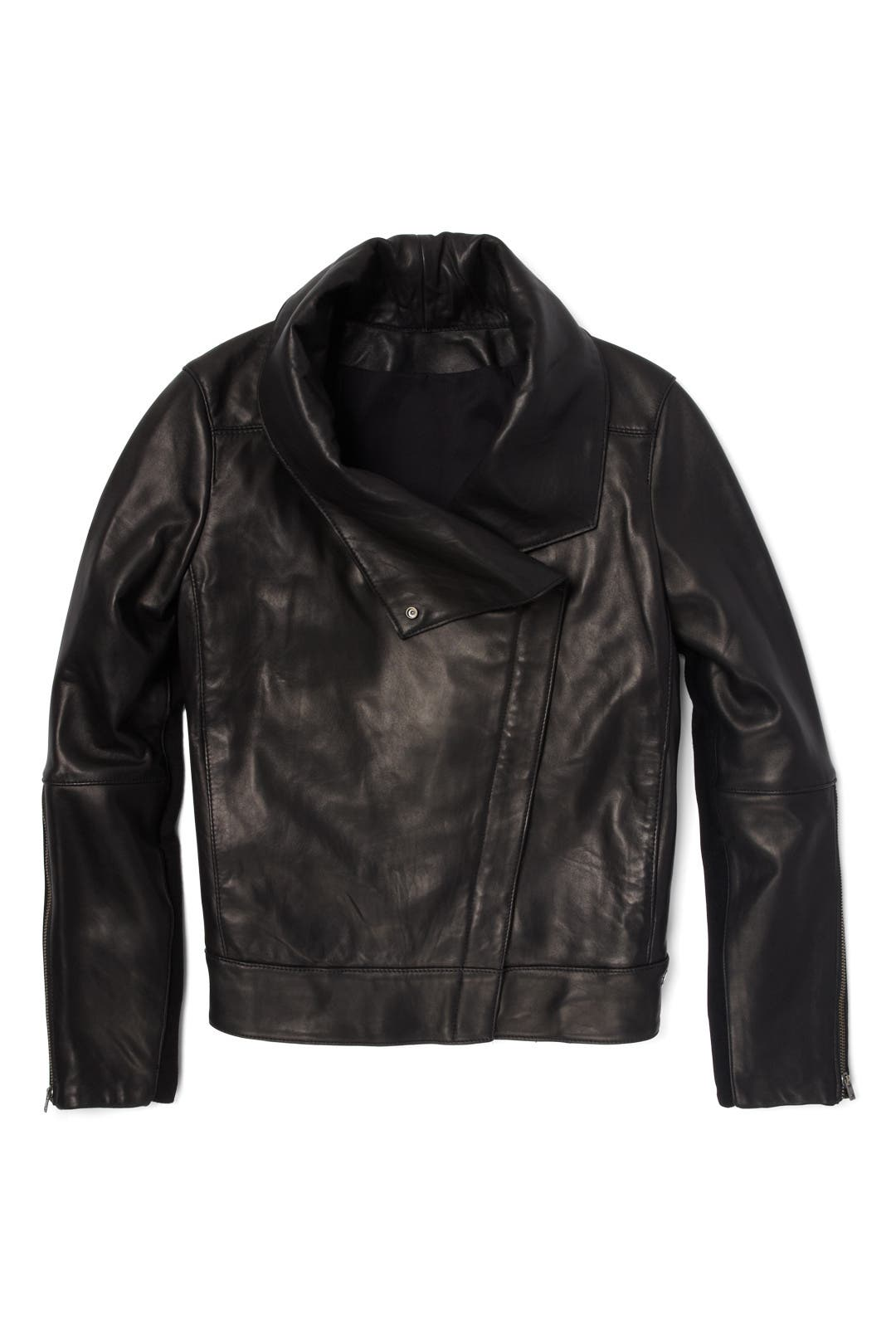 Black Petal High Collar Jacket by Helmut Lang