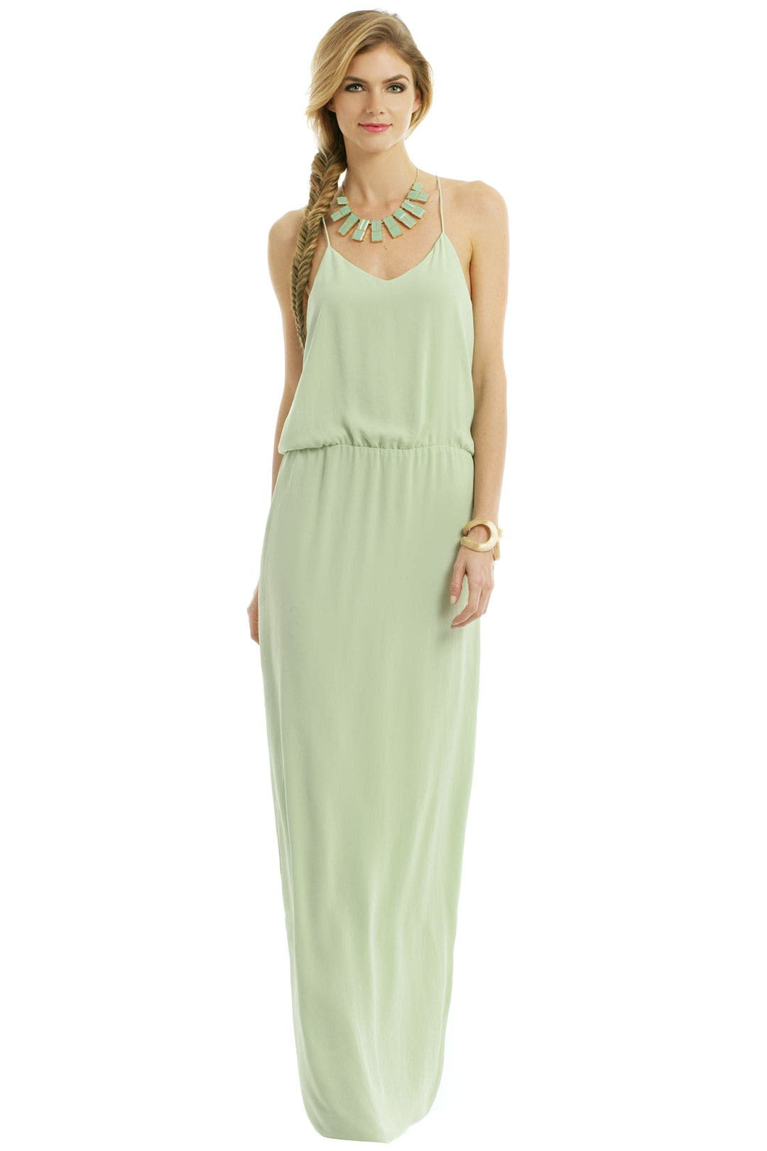 Tropical Mint Leaf Gown by Tibi