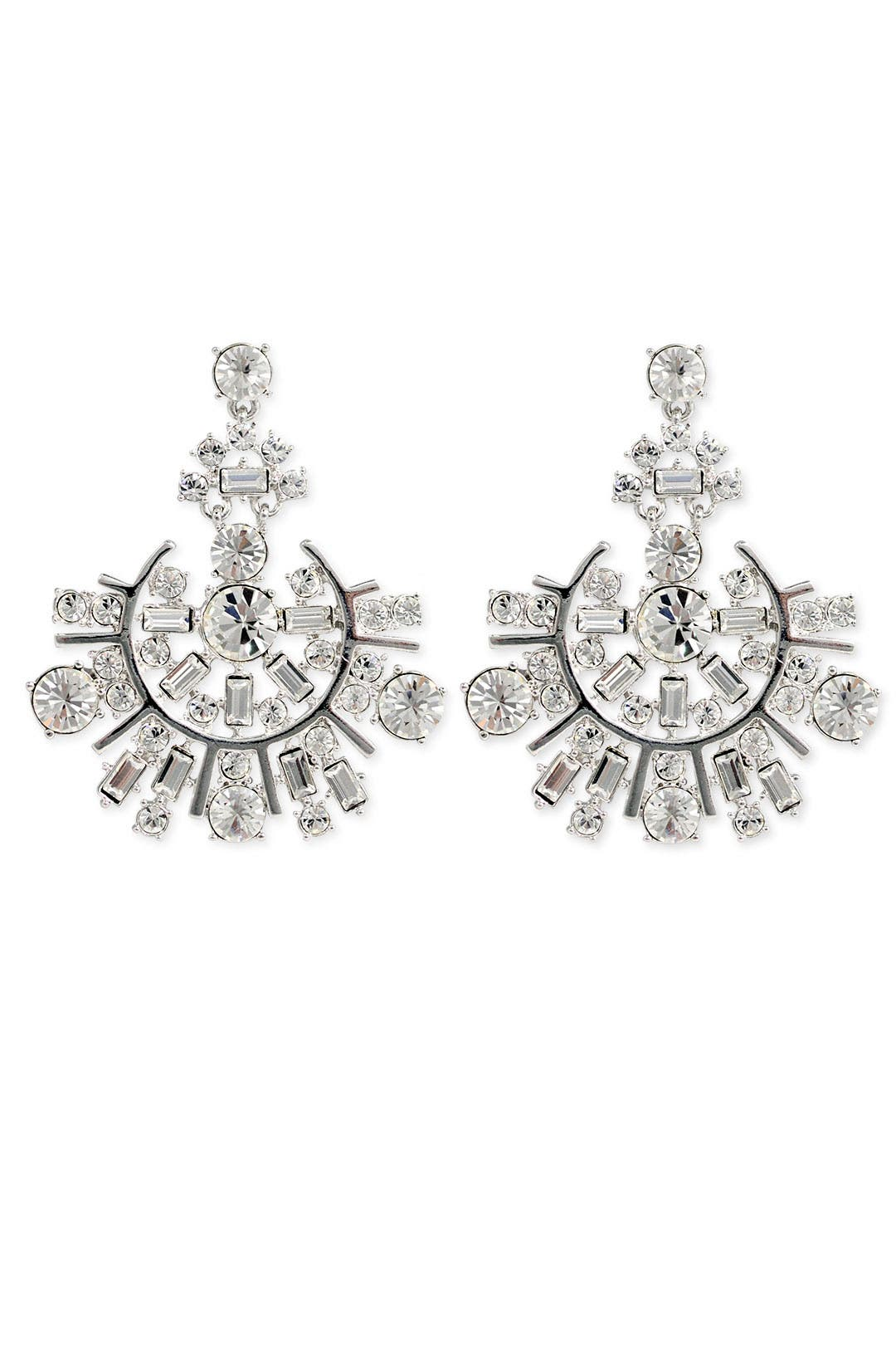 Rhodium Spark Earrings by kate spade new york accessories