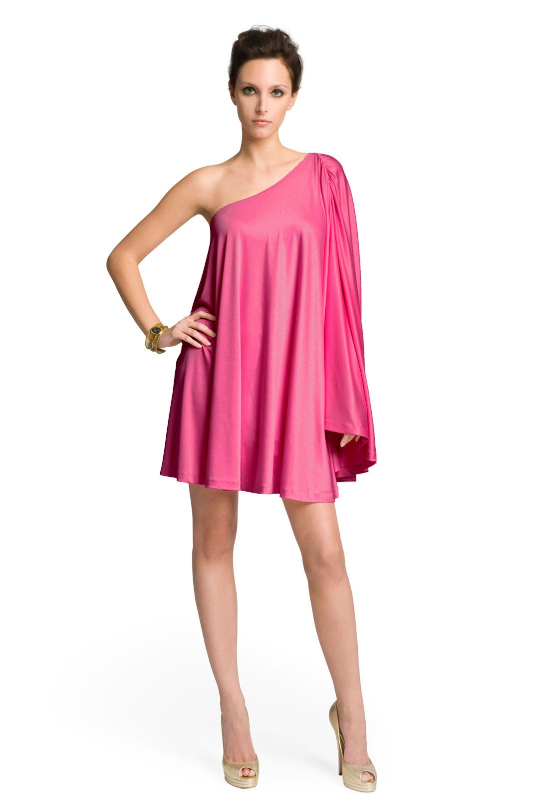 Raspberry Poncho Dress by Halston Heritage