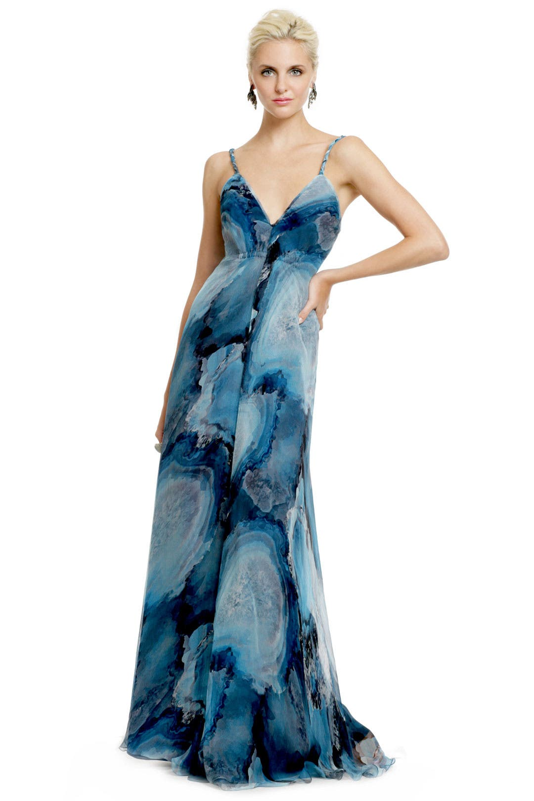 Deep Sea Storm Gown by Carlos Miele