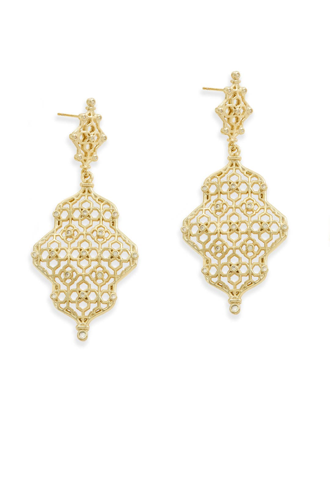 Gold renee earrings by kendra scott for 10 rent the runway arubaitofo Images