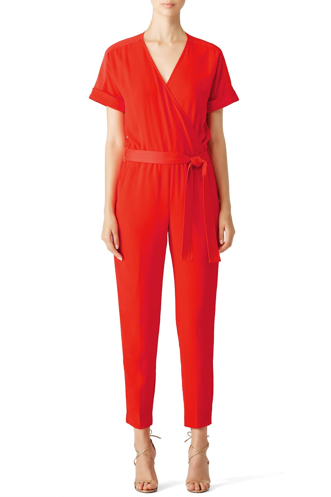 881a11734dd Red Wrap Jumpsuit by Trina Turk for  60