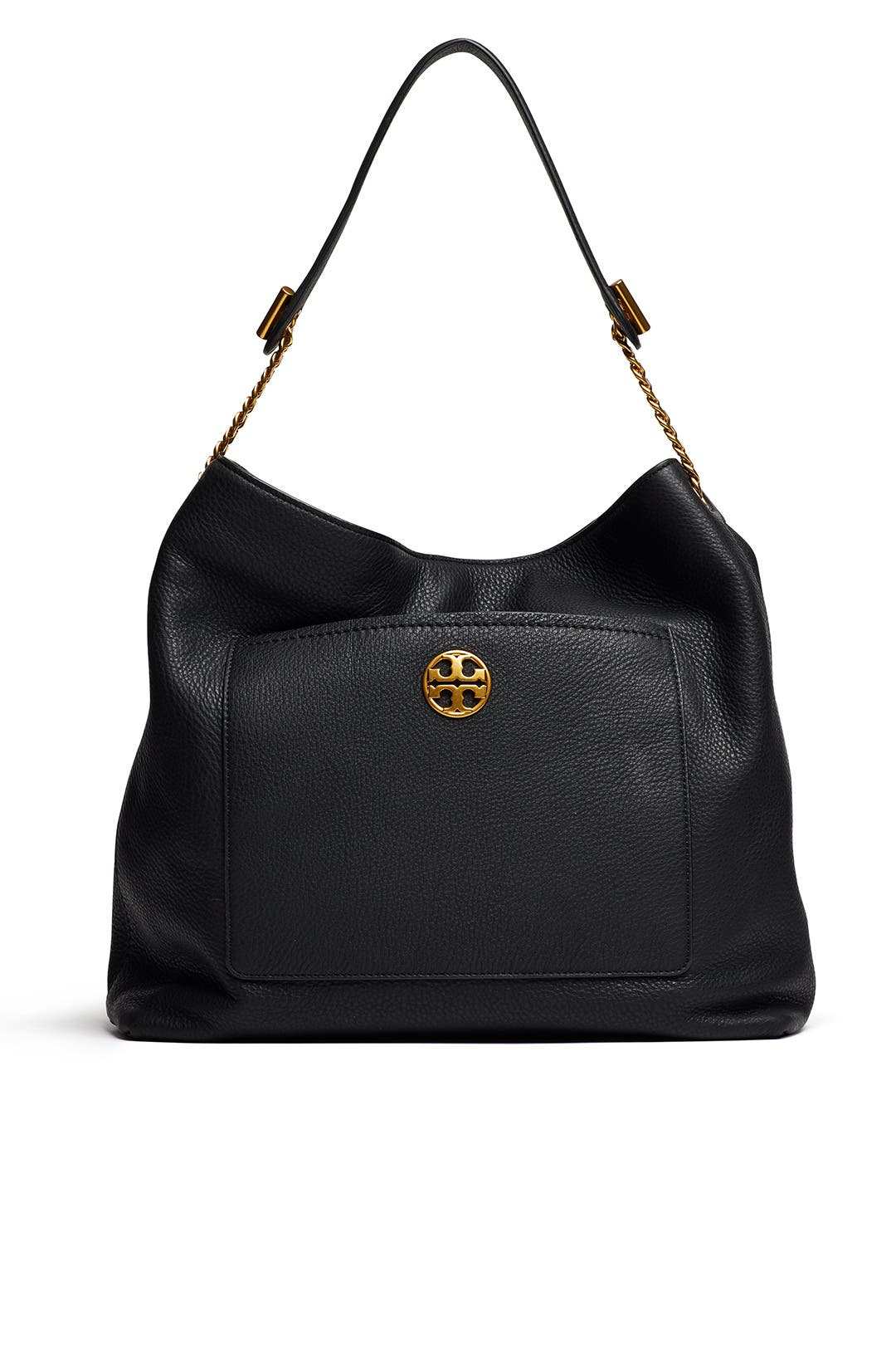 7b013e8eaff9 Black Chelsea Chain Hobo by Tory Burch Accessories for $85 | Rent ...