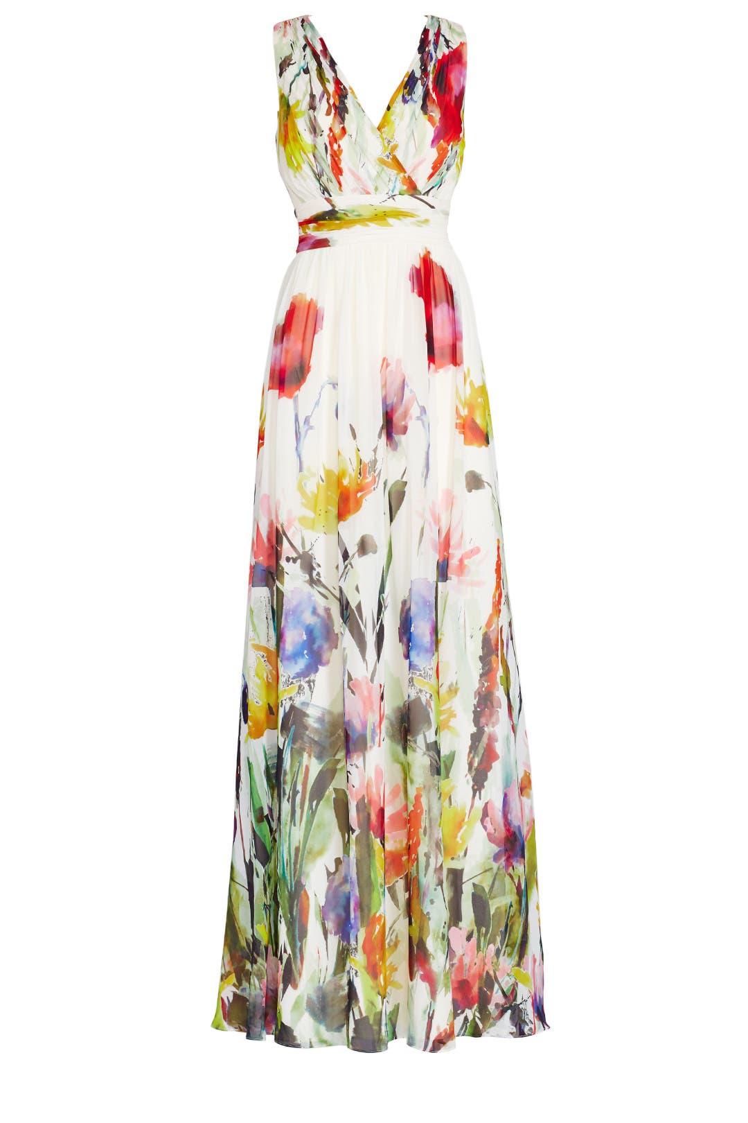 Painted petals maxi dress