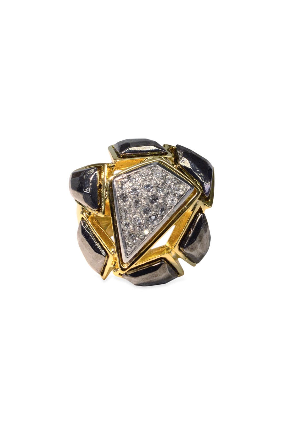 Deco Fab Ring by Kenneth Jay Lane