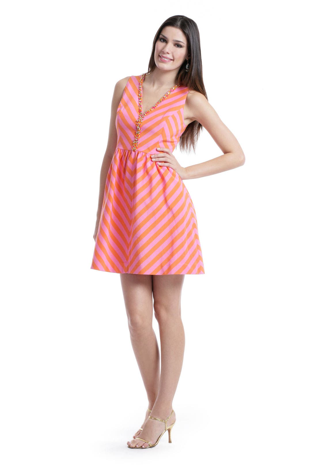 Citrus Candy Cane Dress by Lilly Pulitzer