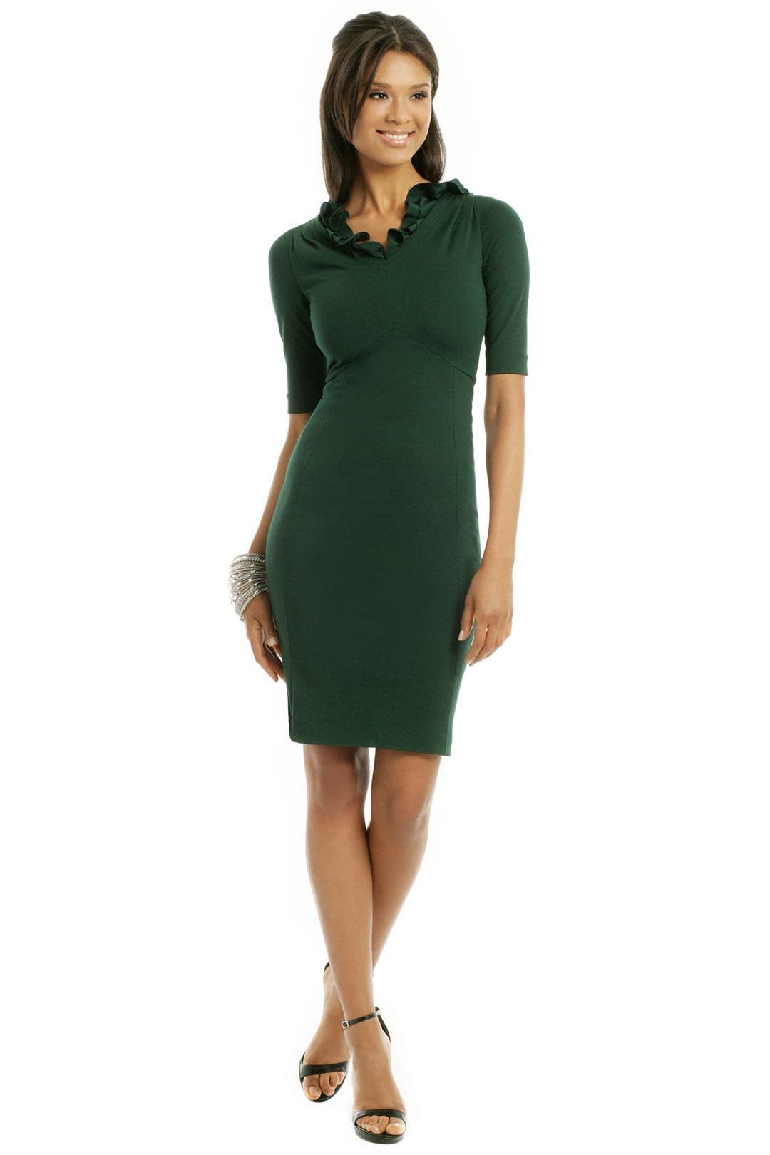 Courtess Ruffle Dress by Moschino