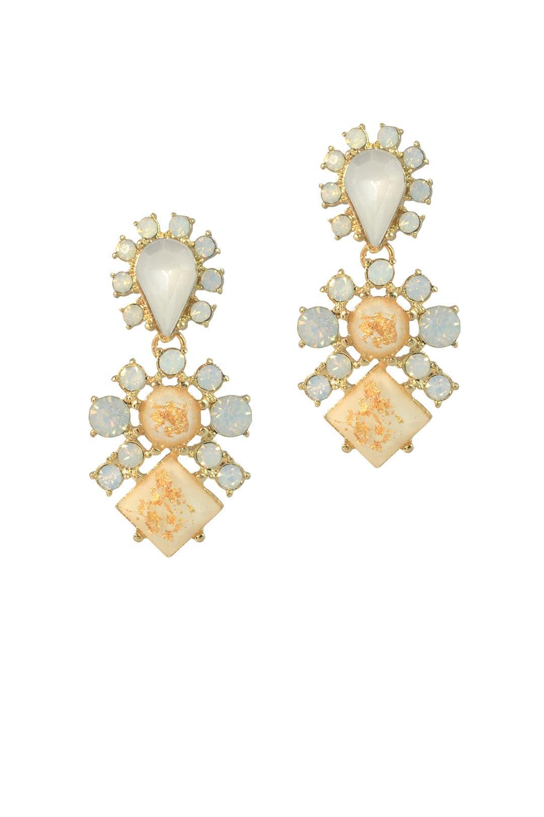 Tigers Eye Drop Earrings by Slate & Willow Accessories
