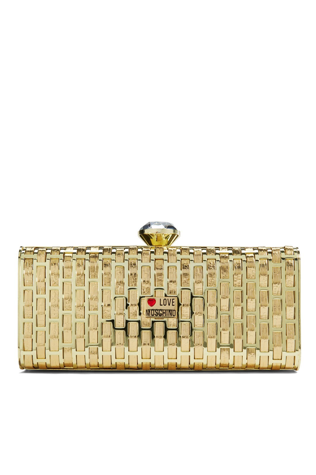 Yellow Brick Road Clutch by Love Moschino Accessories
