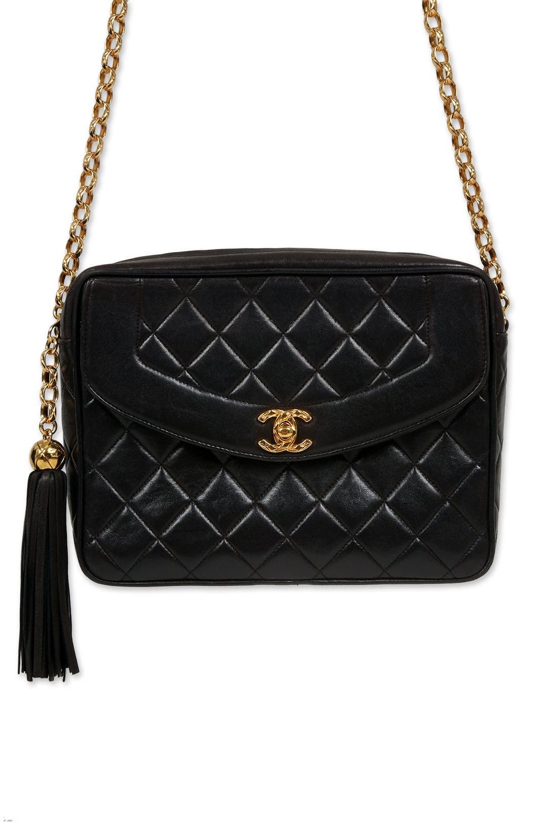 Vintage Chanel Black Tassel Bag by WGACA Vintage