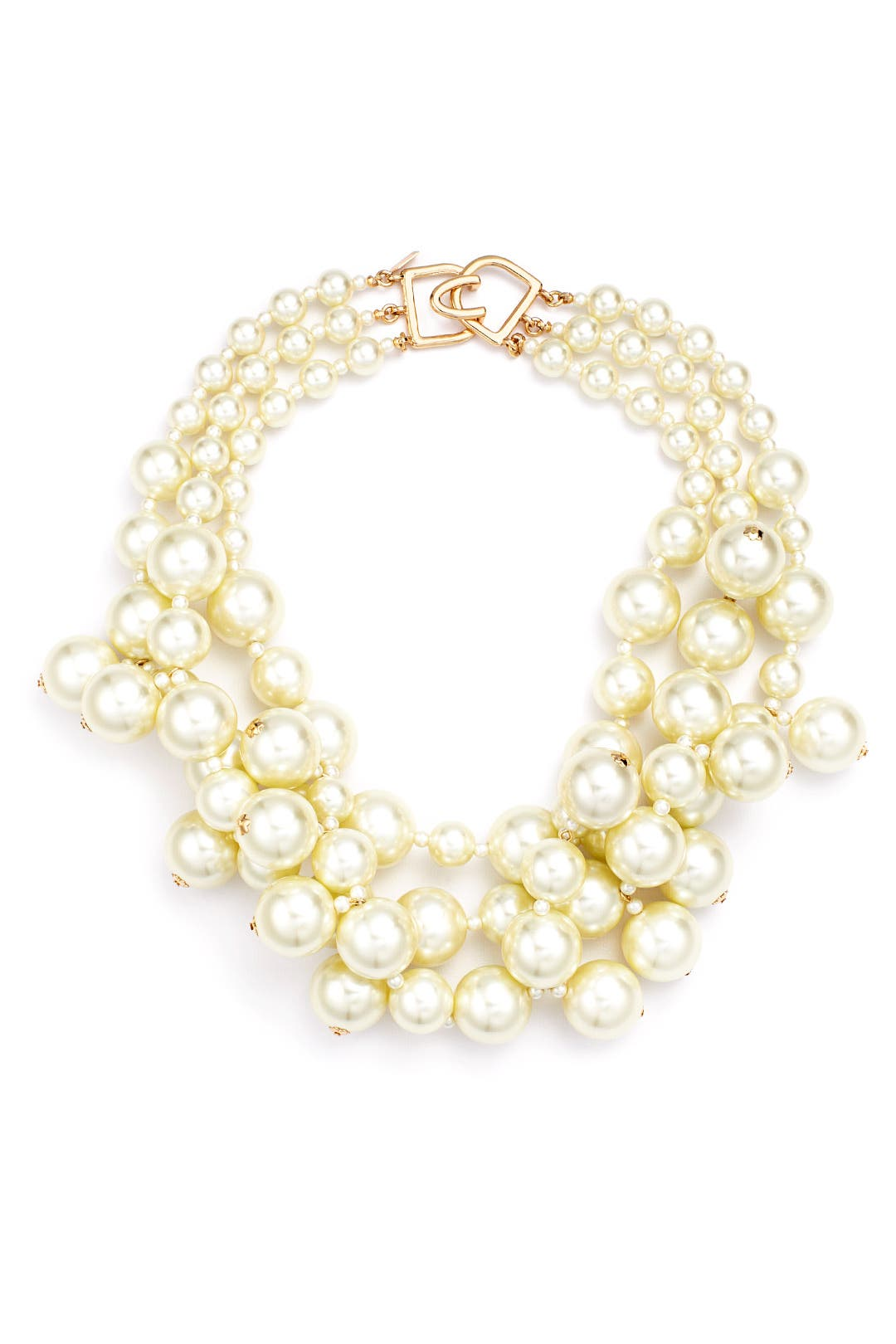 Kenneth Jay Lane Seven-Row Pearly Necklace jnEVb