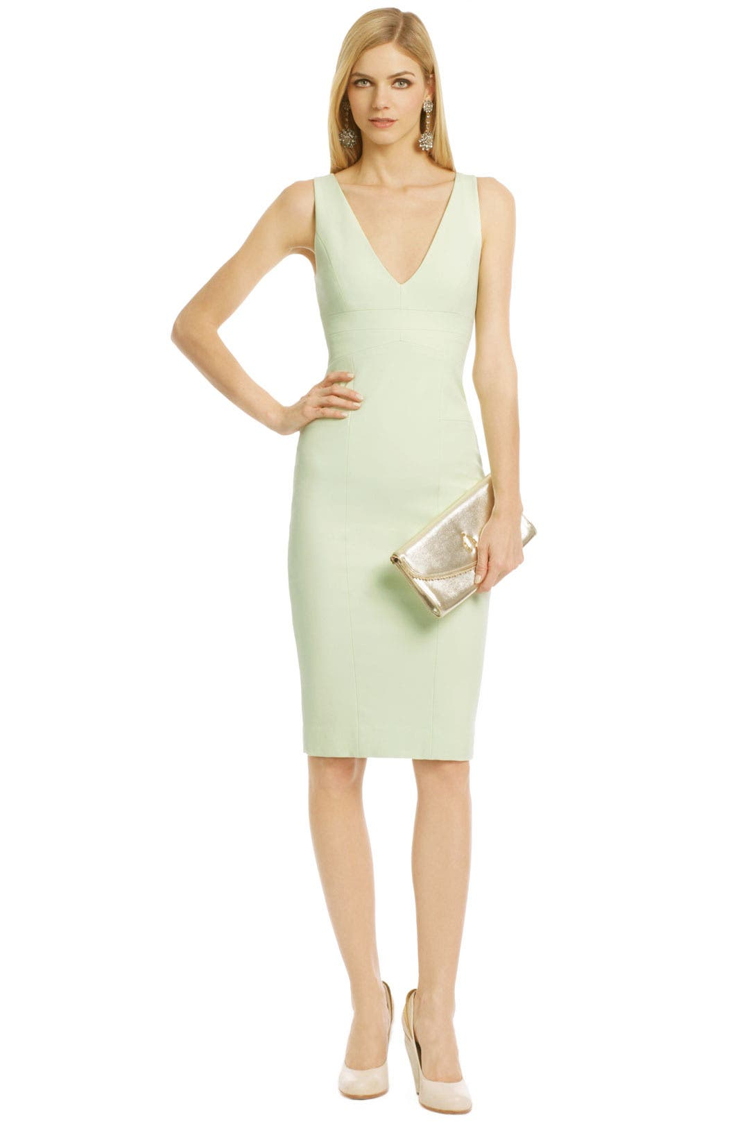 Pistachio V Sheath by Narciso Rodriguez