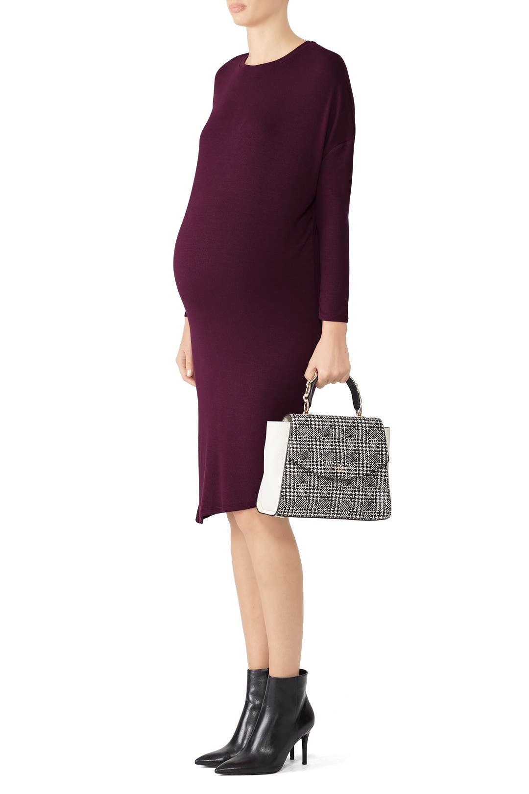 46f46abf2ec Plum Circle Tee Maternity Dress by Ingrid   Isabel for  30