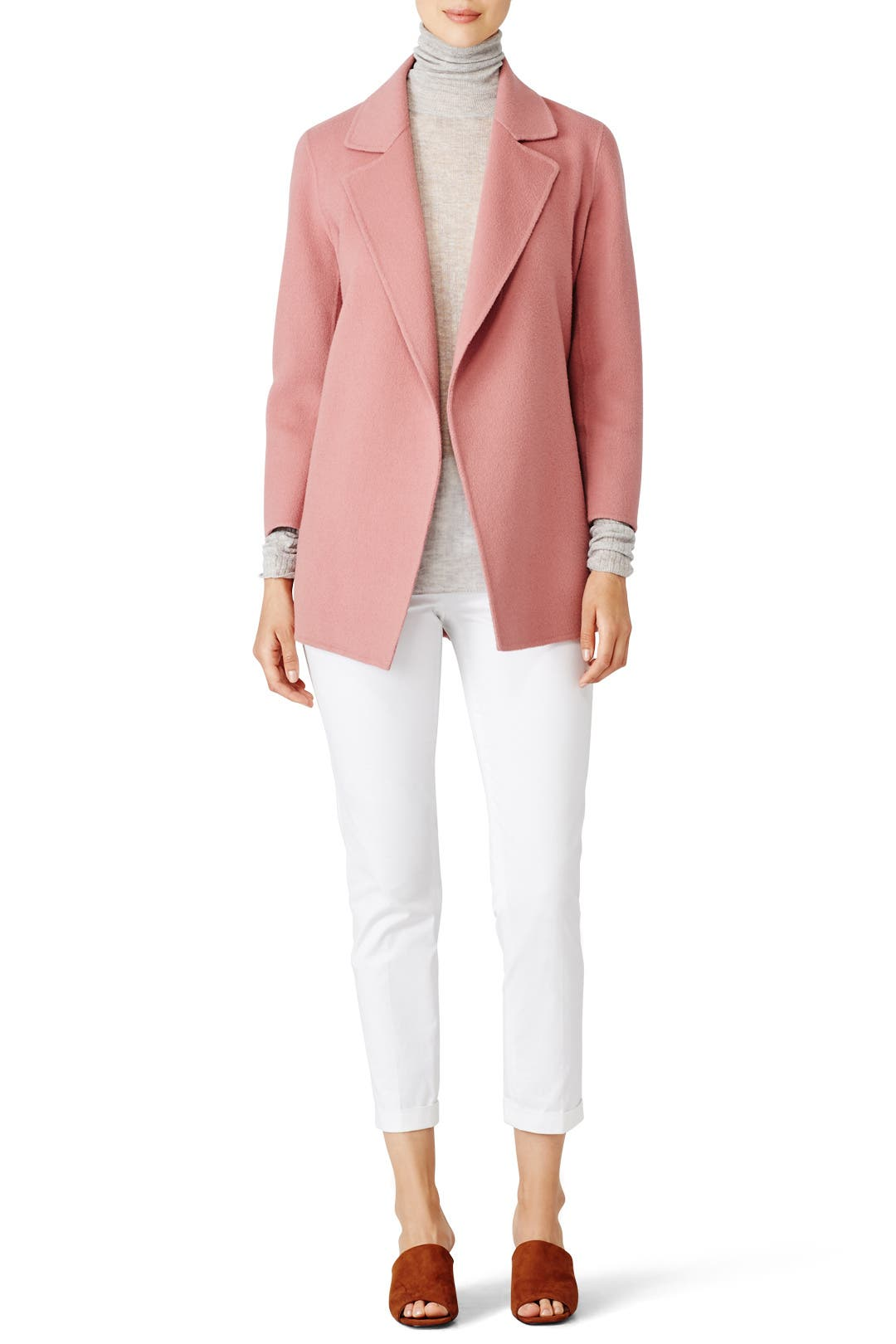 Pink Clairene Jacket By Theory For 85 Rent The Runway