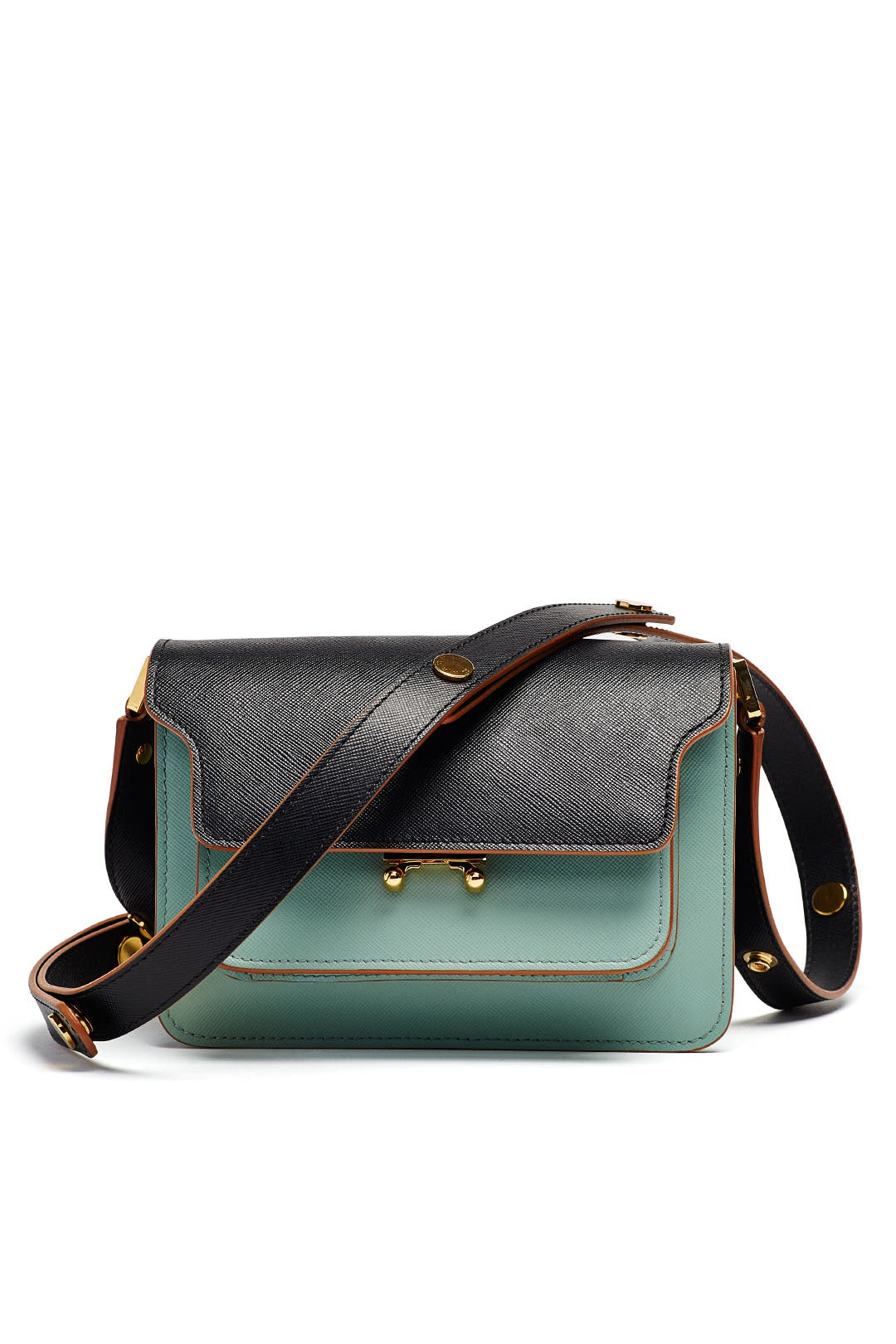 Marni Trunk Medium Color Block Leather Shoulder Bag in 2020