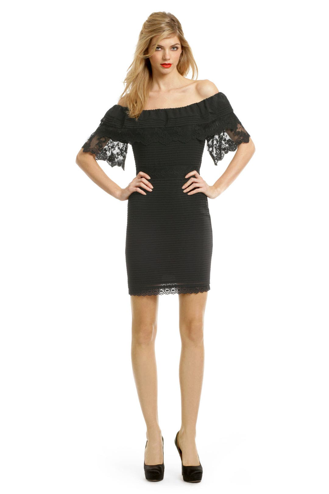 Black Lace Whispers Dress by Alice by Temperley