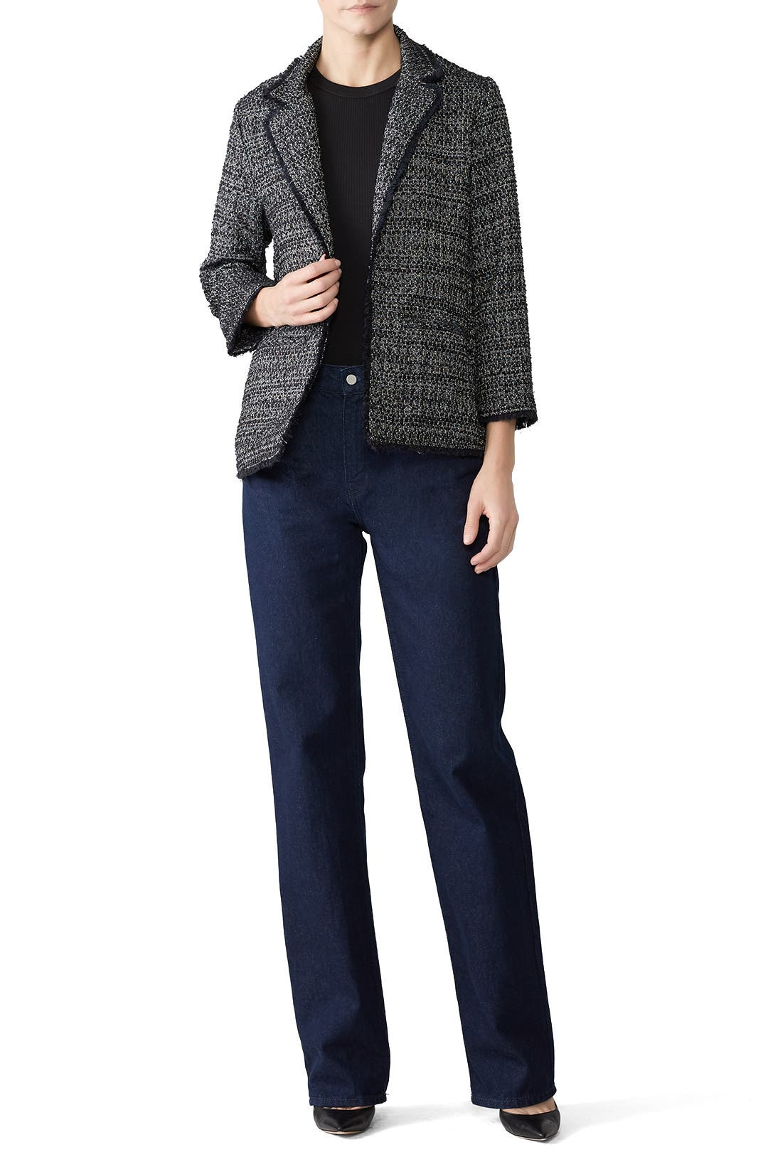 8a3ff553f cupcakes and cashmere Gregory Tweed Blazer