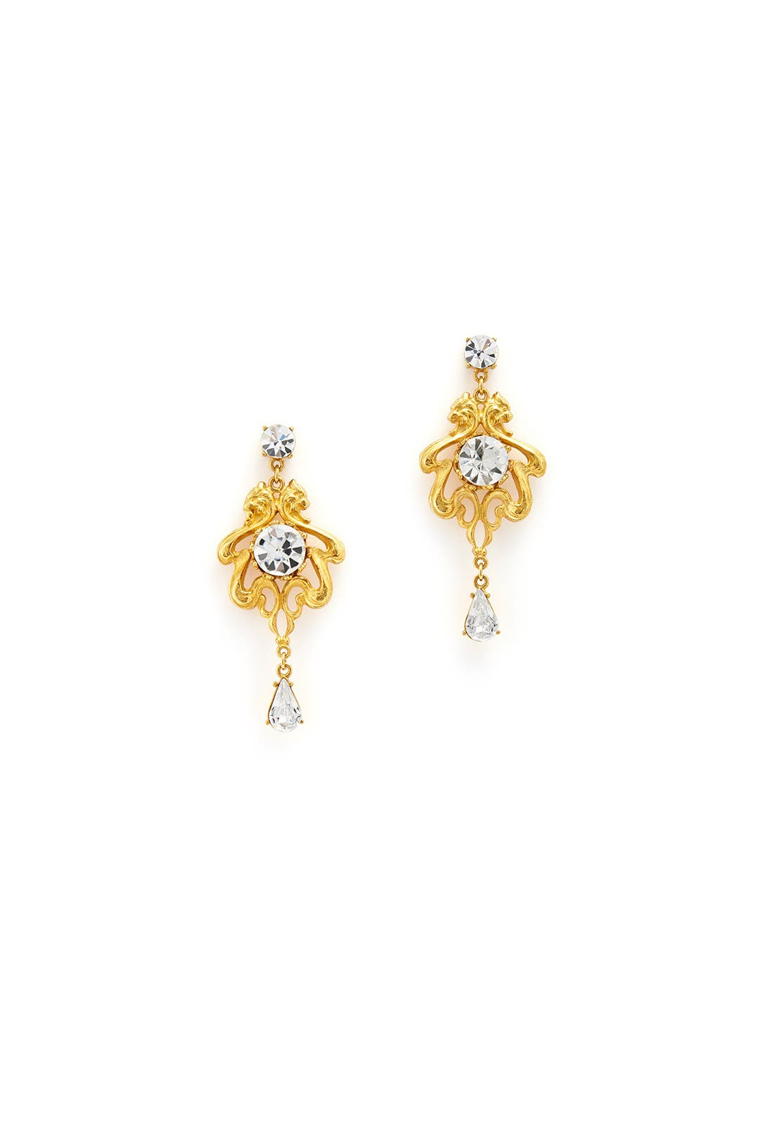 Regal Gem Chandelier Earrings by Tom Binns