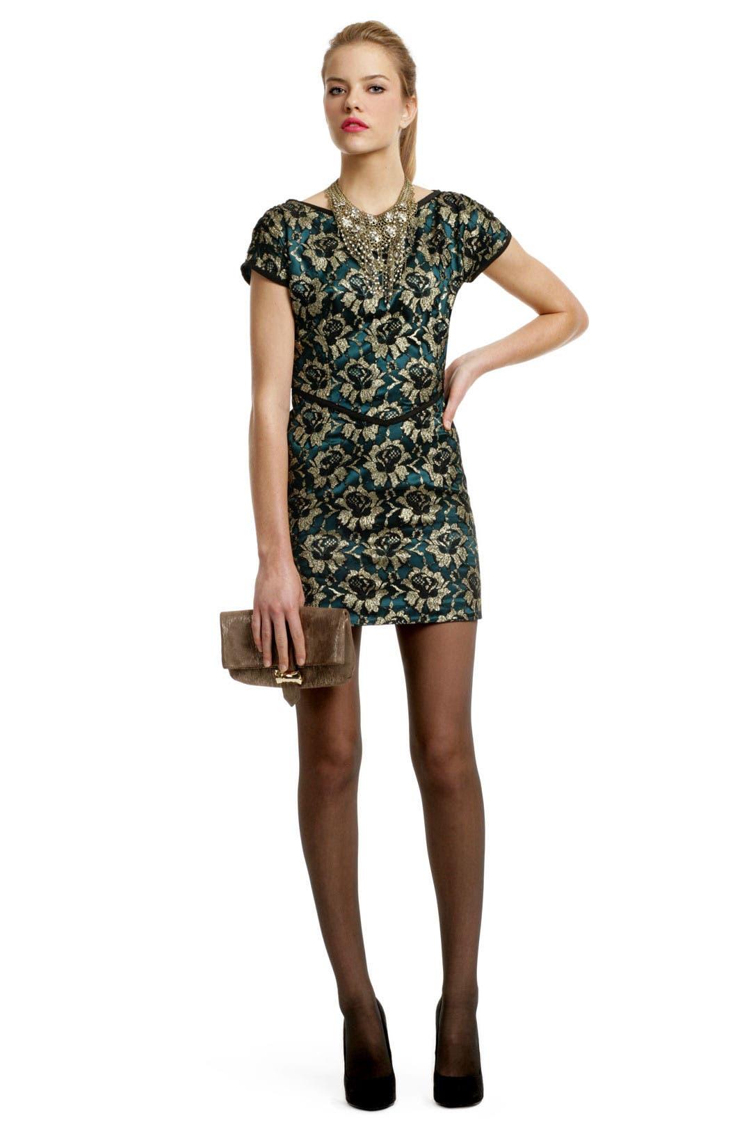 Golden Leaf Teacup Dress by Radenroro