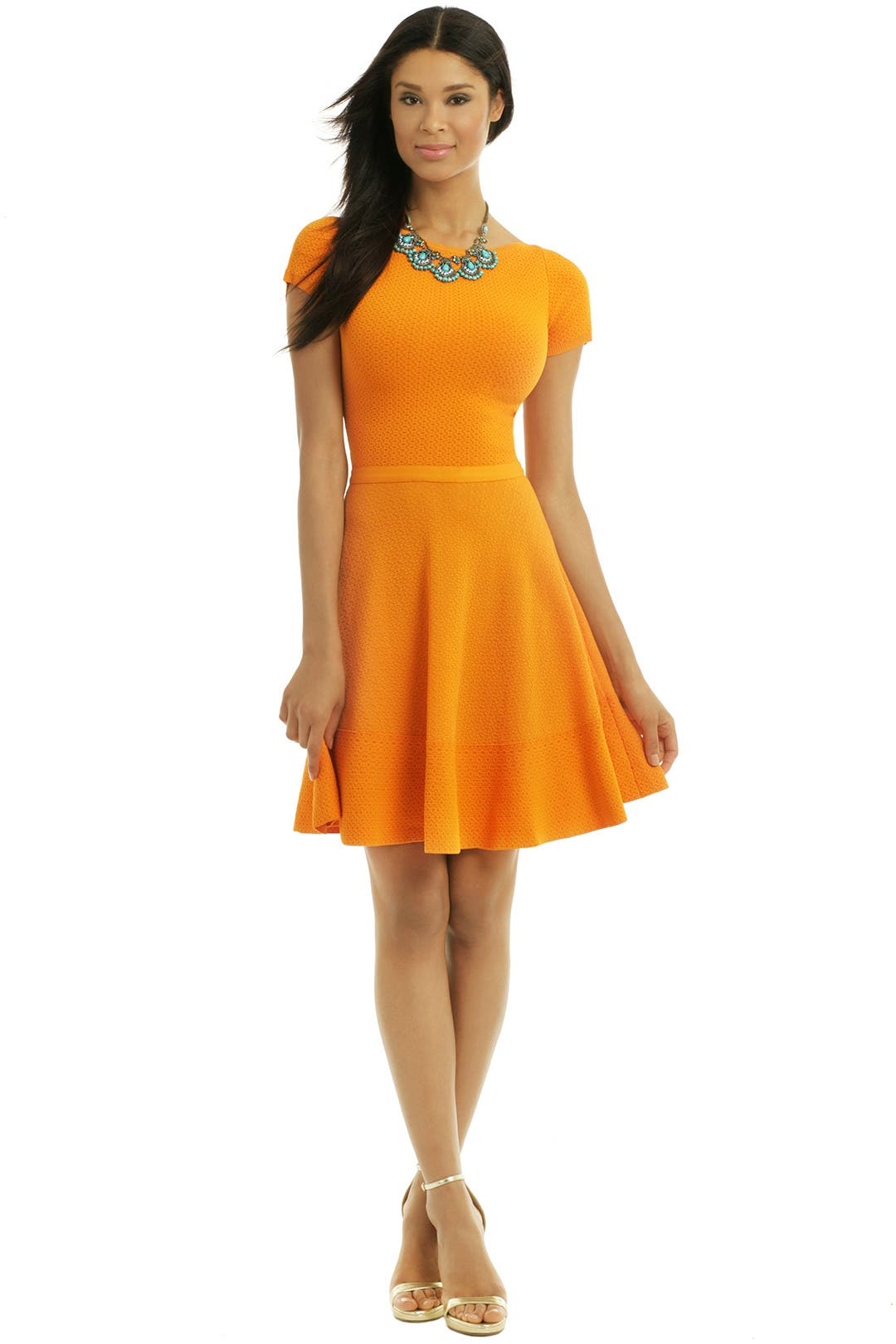 Out Of This World Orange Dress by No. 21