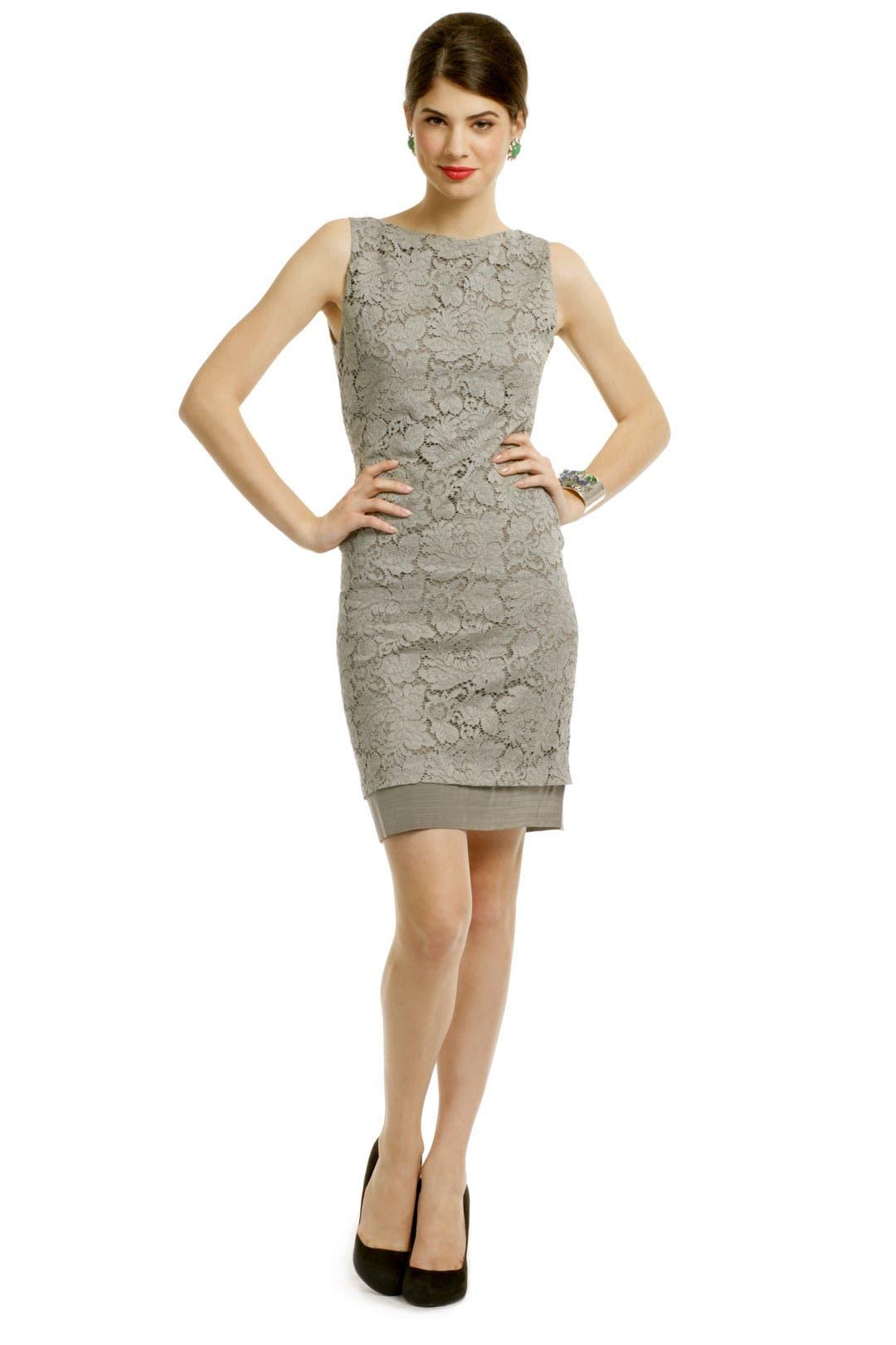 Vera wang corded lace sheath dress