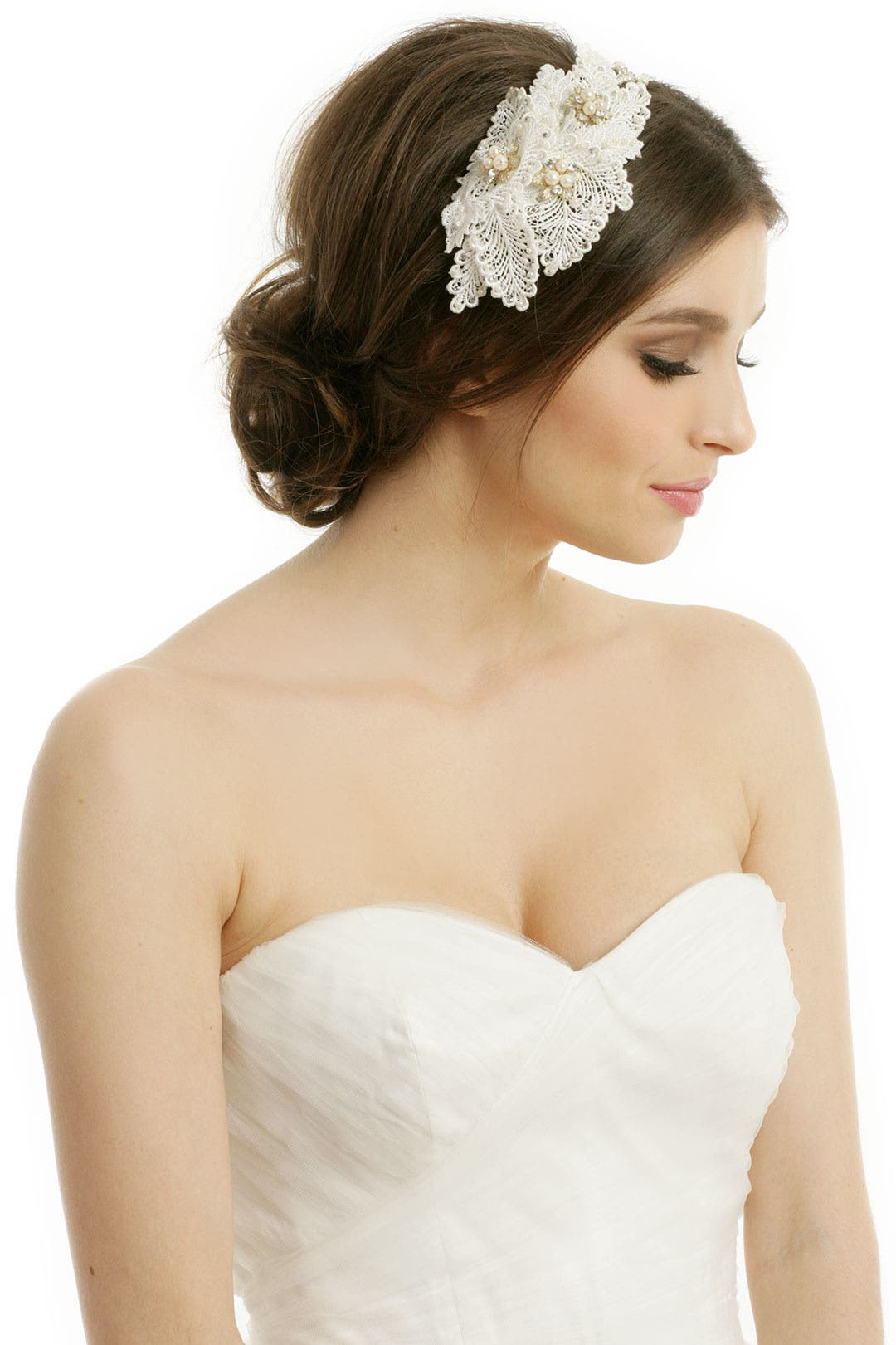 pretty in pearls headband by rtr bridal accessories for $42 | rent