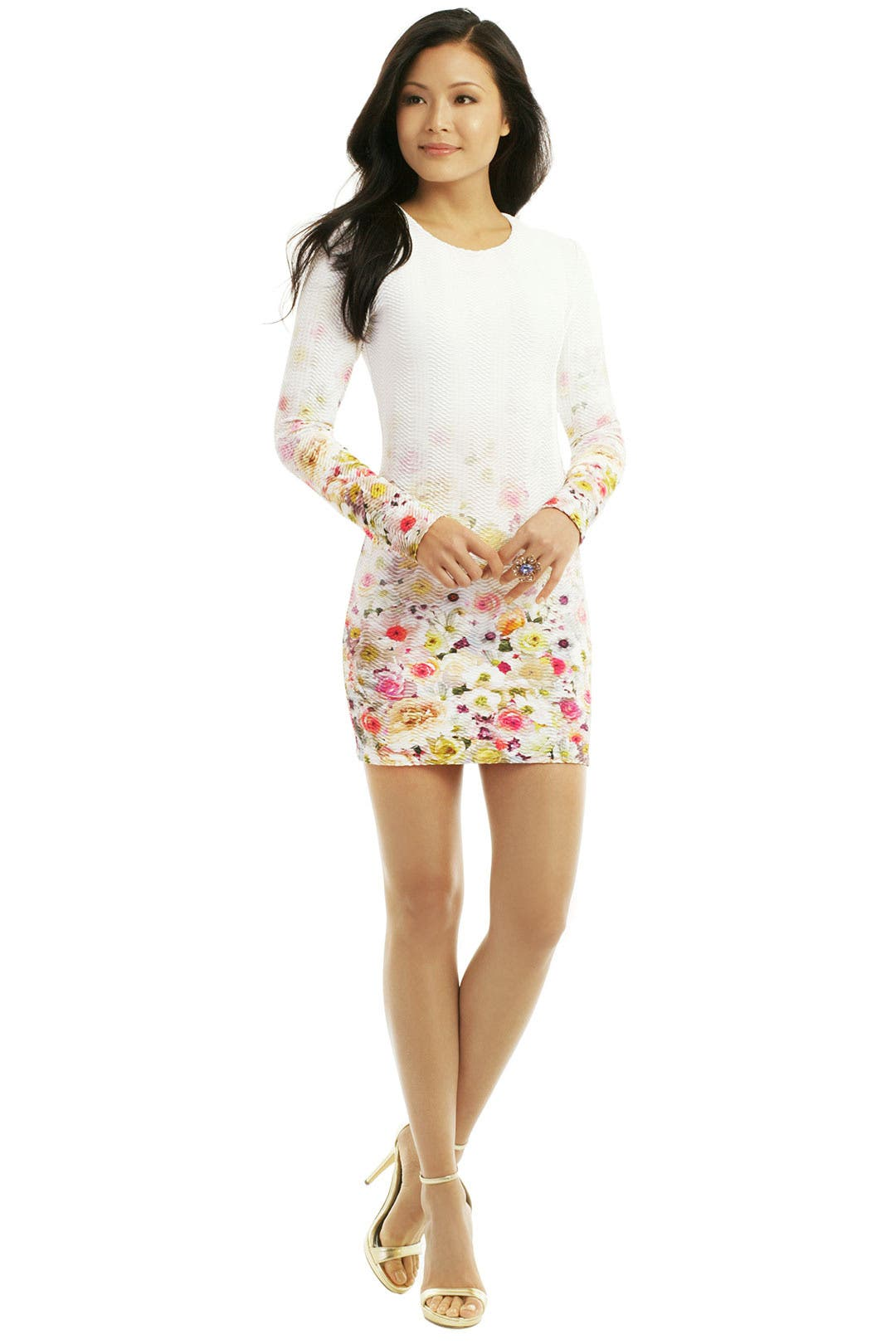 Twisted Floral Dress by MSGM