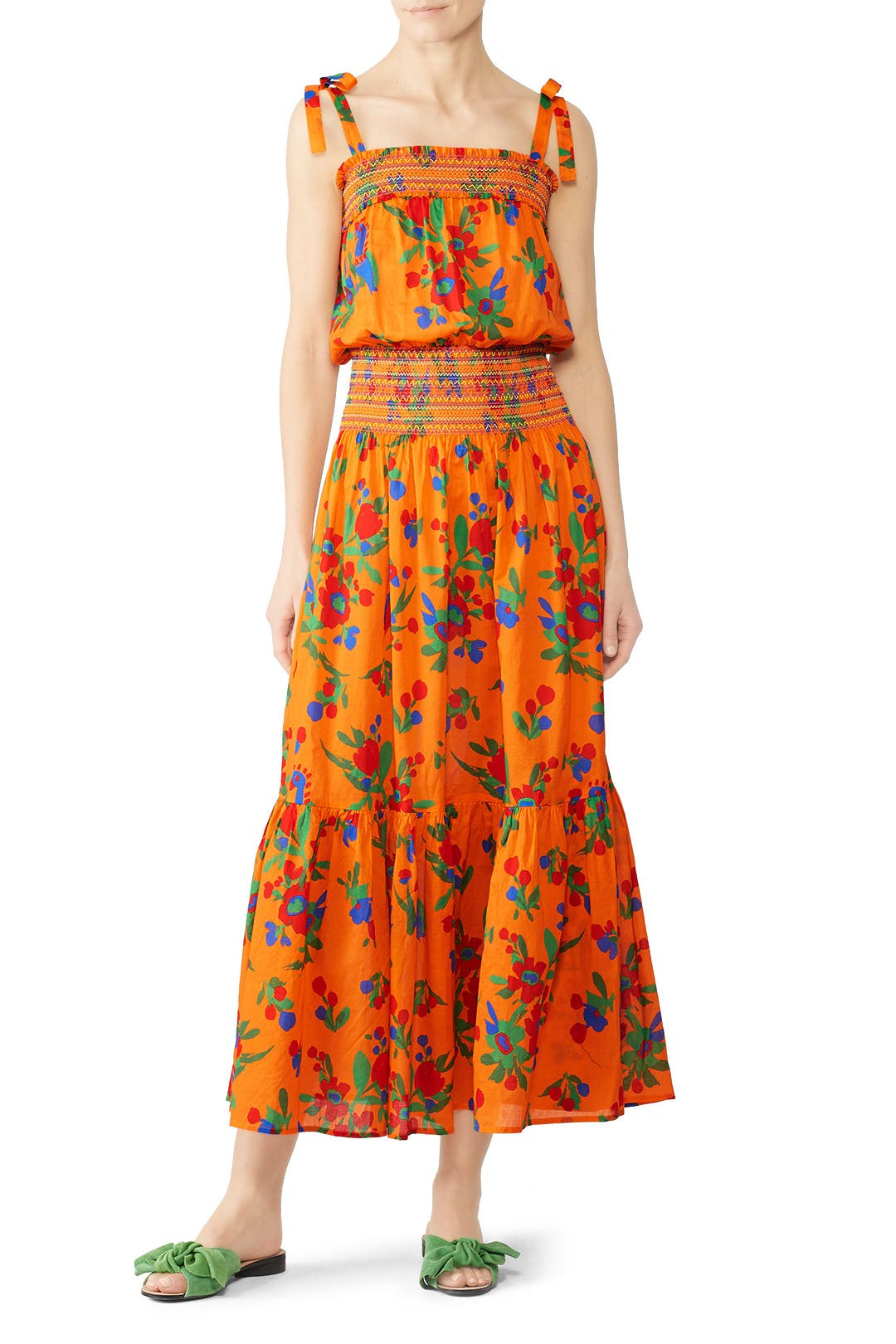 cf9839ed7c Printed Smocked Dress by Tory Burch for $75 | Rent the Runway