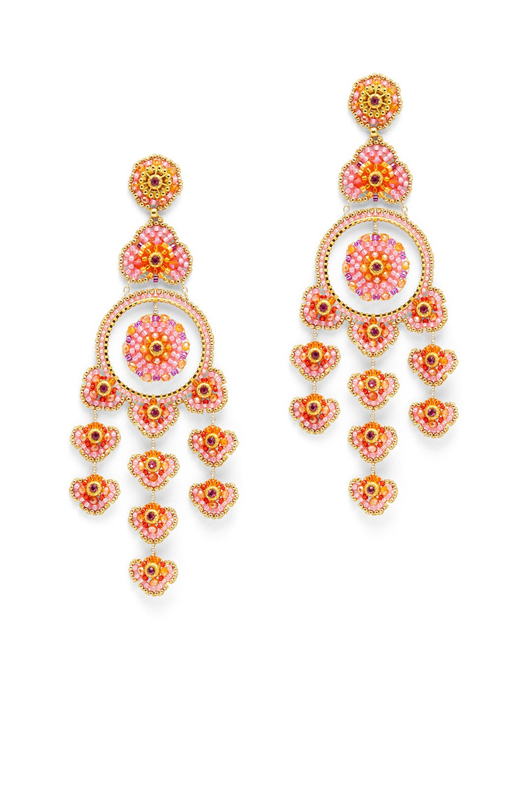 Pink and orange beaded chandelier earrings by miguel ases for 80 pink and orange beaded chandelier earrings by miguel ases for 80 rent the runway arubaitofo Choice Image