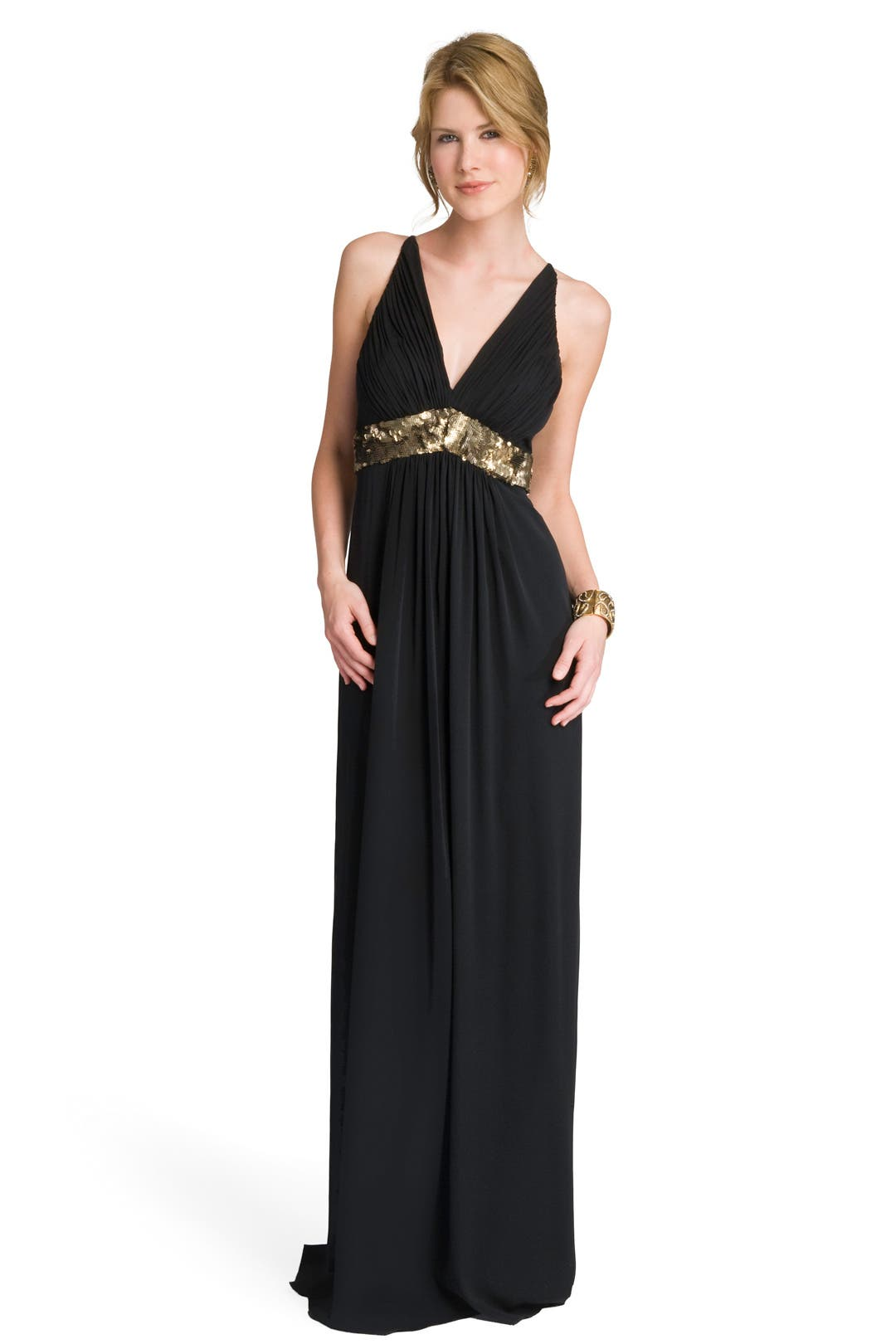 Sequin Trim Empire Gown by Robert Rodriguez Black Label
