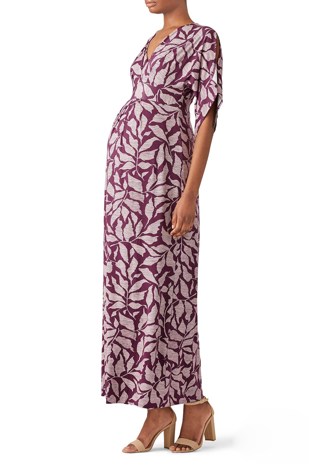 65a98ed071de7 Kimono Maternity Maxi by Ingrid & Isabel for $30 | Rent the Runway