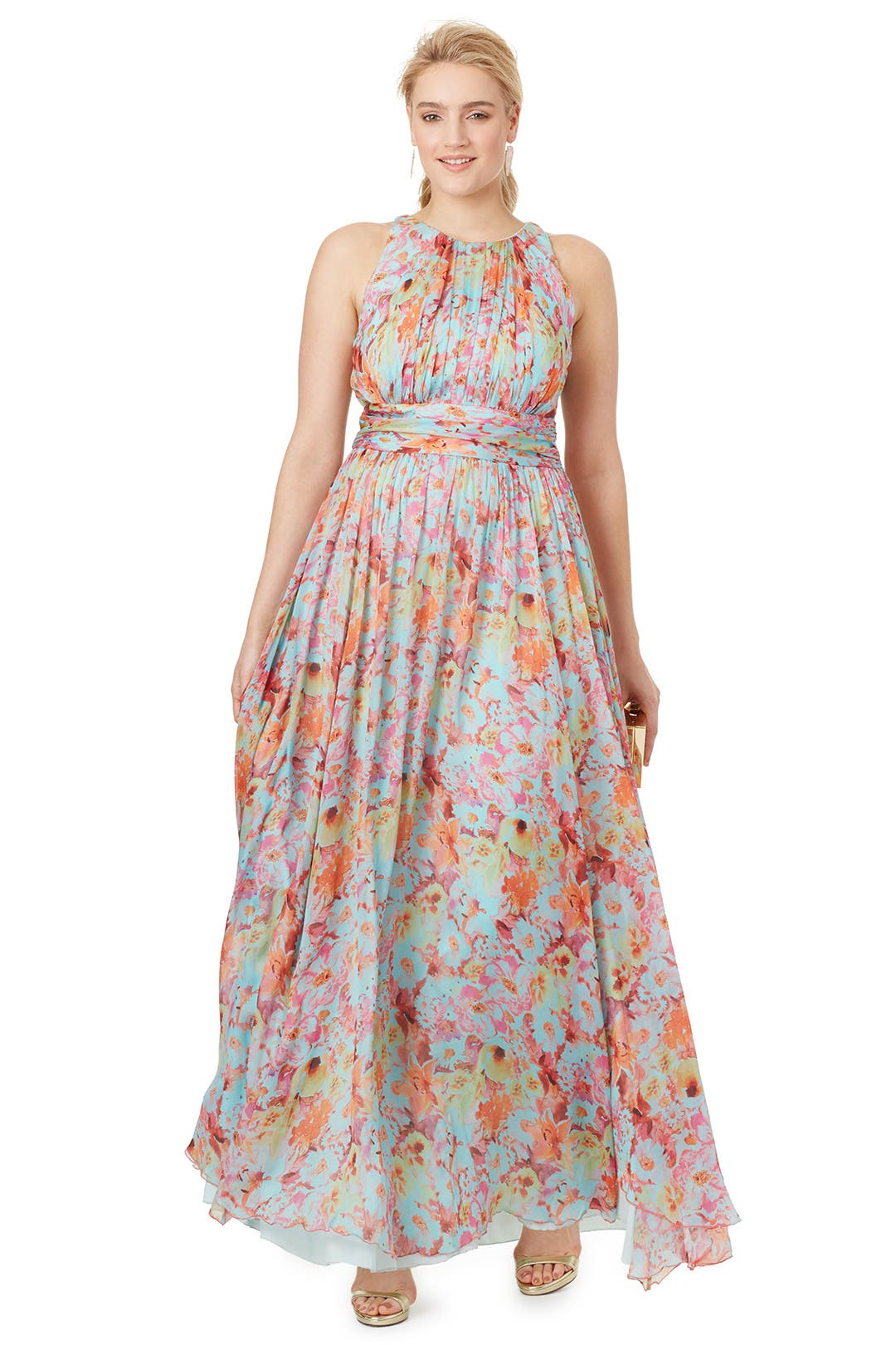 Wild Meadow Maxi Dress by Badgley Mischka for $165 | Rent the Runway