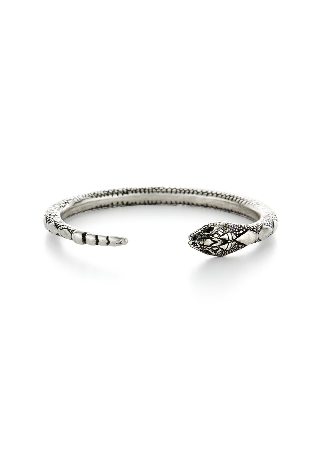 Silver Serpent Bangle by Pamela Love