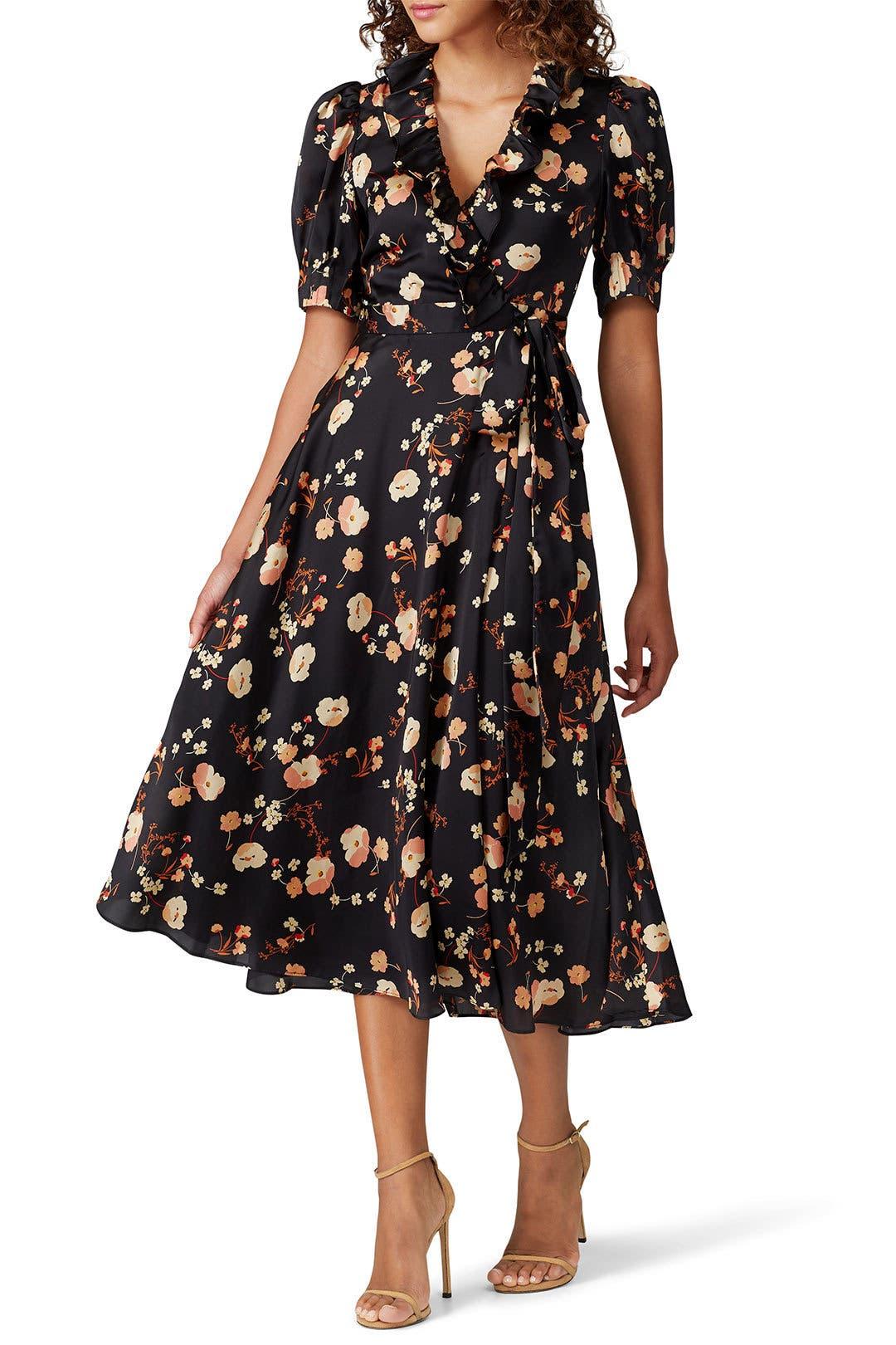 Jill Jill Stuart Womens Wrap Dress Anouk Print