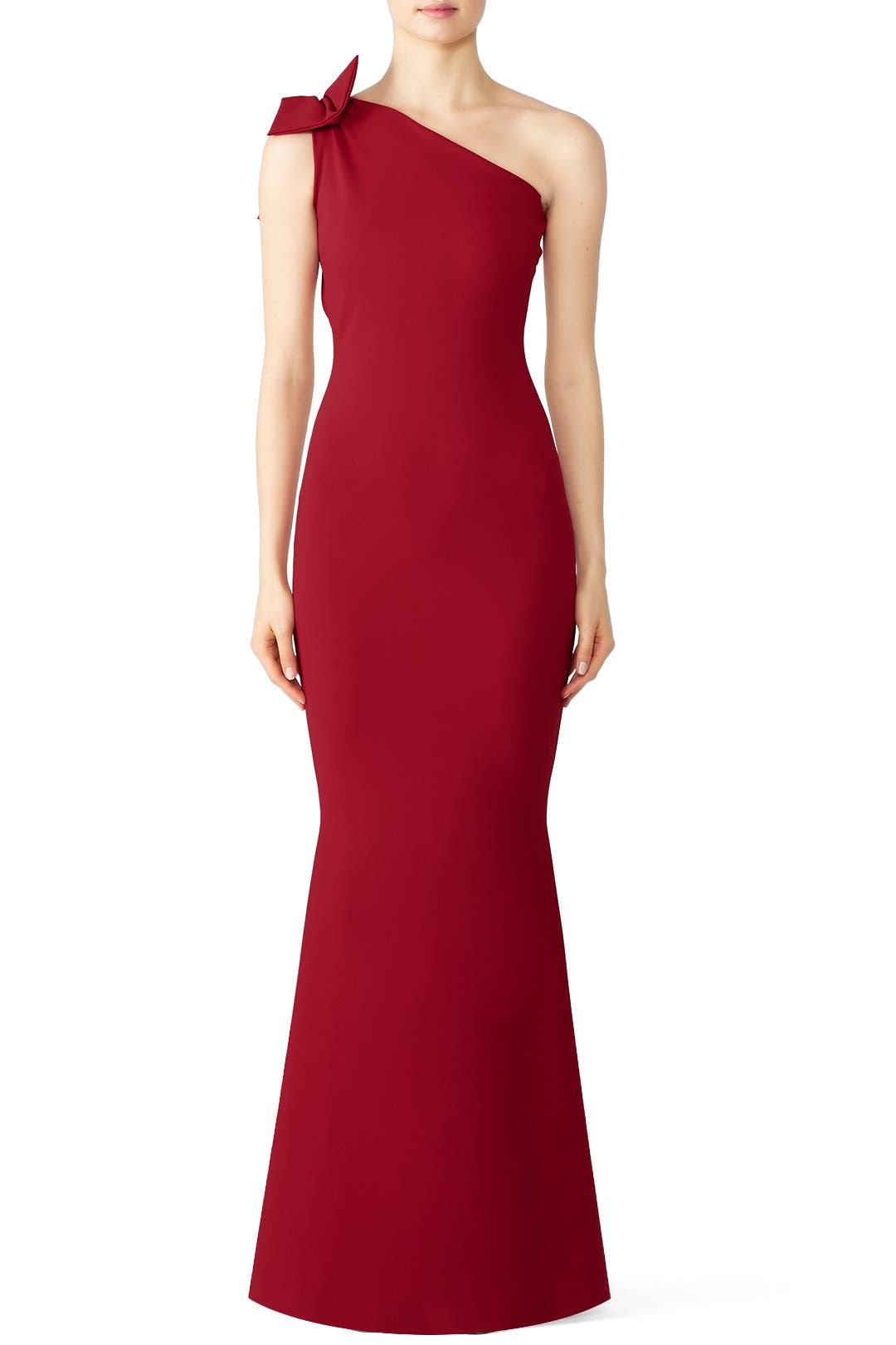 502e2d82 Red Bow Shoulder Gown by La Petite Robe di Chiara Boni for $150 - $165 |  Rent the Runway