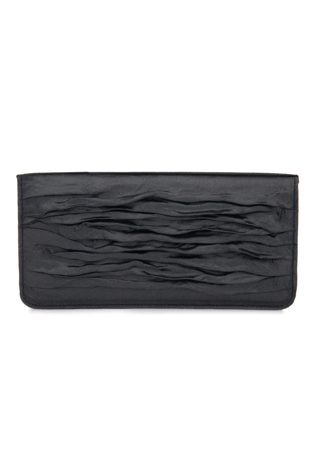 Black Crinkle Clutch by Nicole Miller Accessories