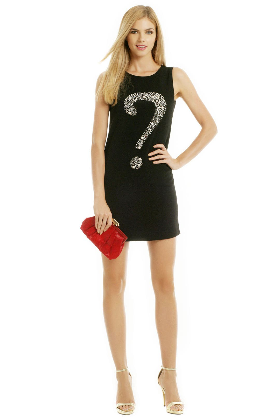 Question Mark Sheath by Moschino Cheap And Chic