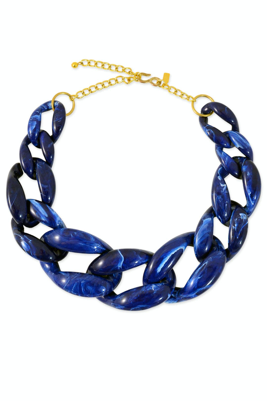 Marbled Cobalt Necklace by Kenneth Jay Lane