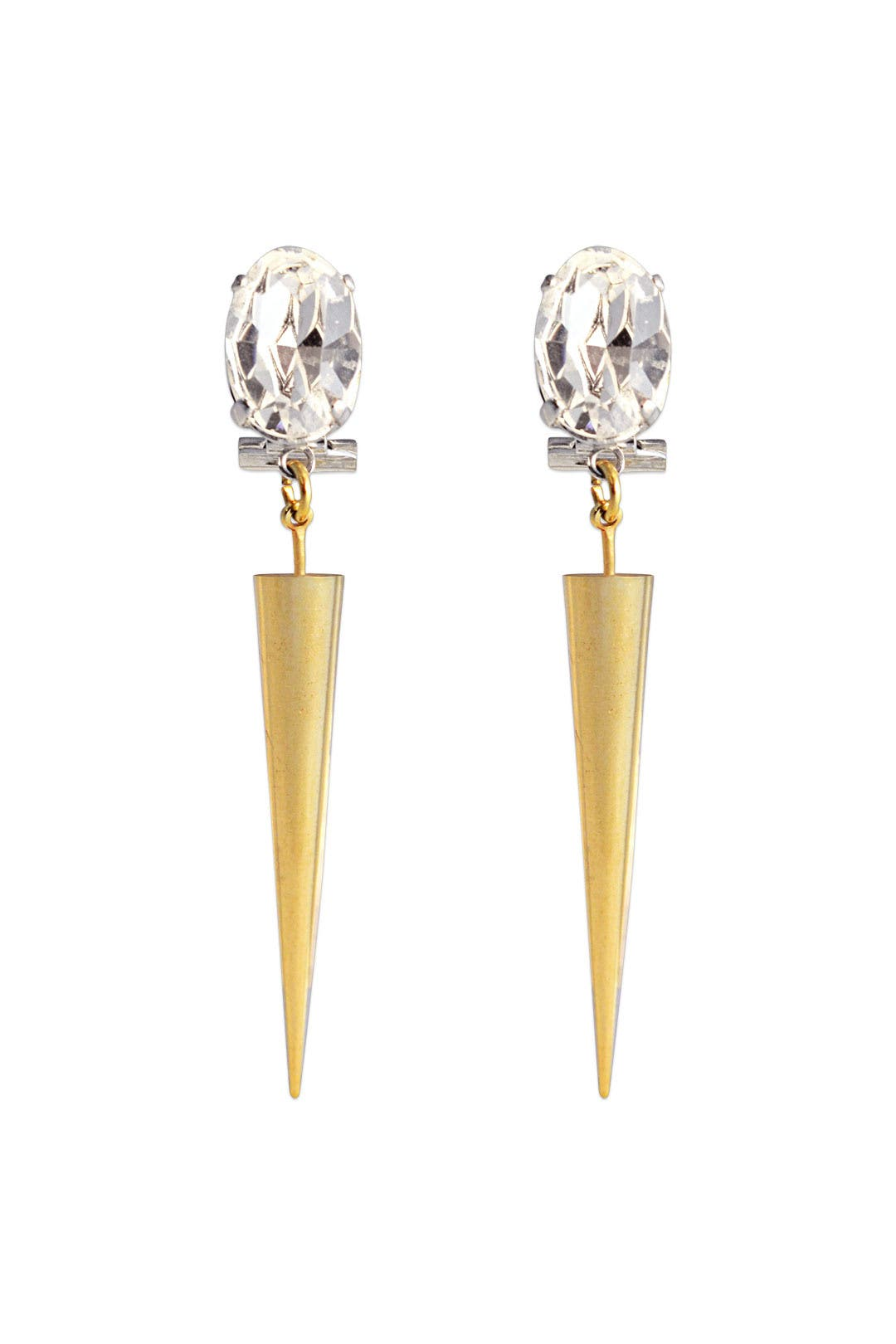 Crystal Thistle Drop Earrings by Anton Heunis