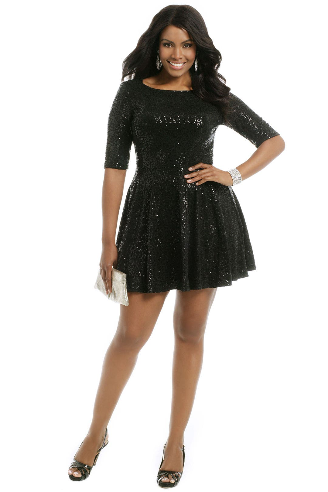 Quinn Glitter Dress by Slate & Willow