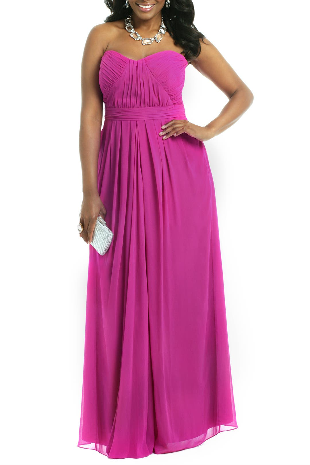 Chiffon Goes Fuschia Gown by Badgley Mischka