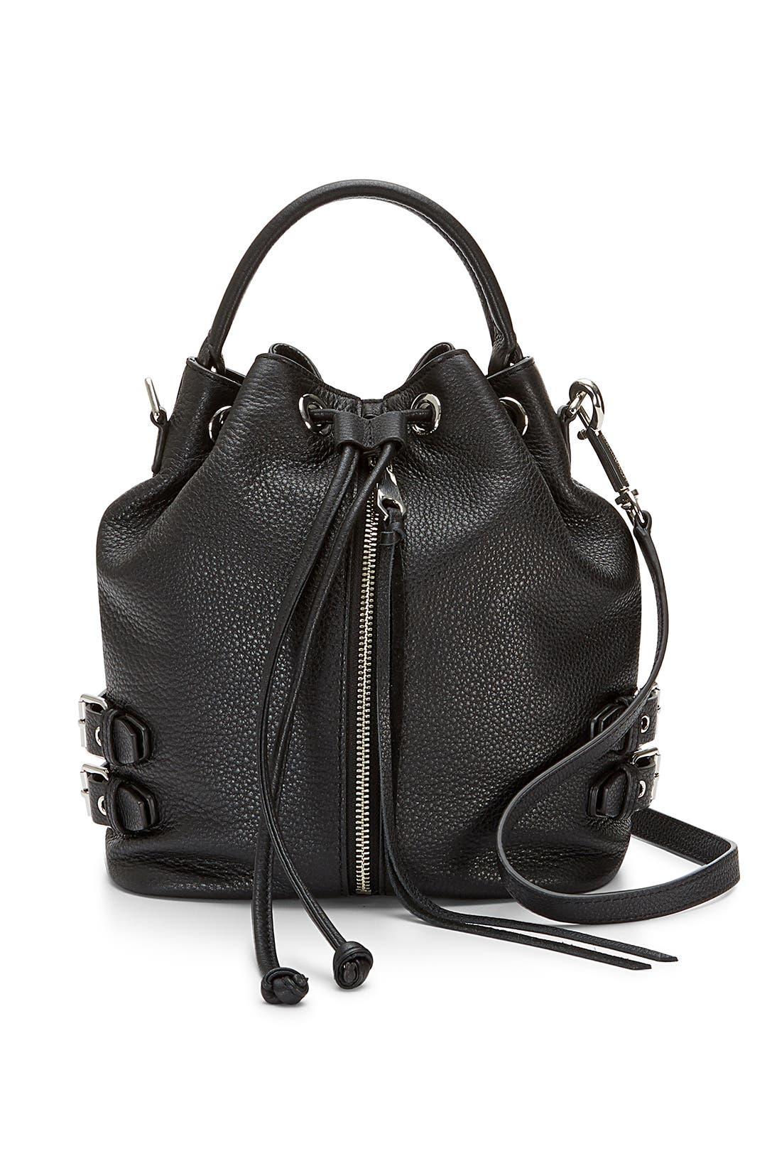 Black Moto Bucket Bag by Rebecca Minkoff Handbags
