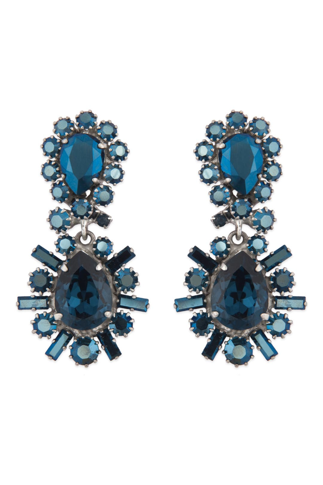 Sapphire Crystal Stunner Earrings by Rodrigo Otazu