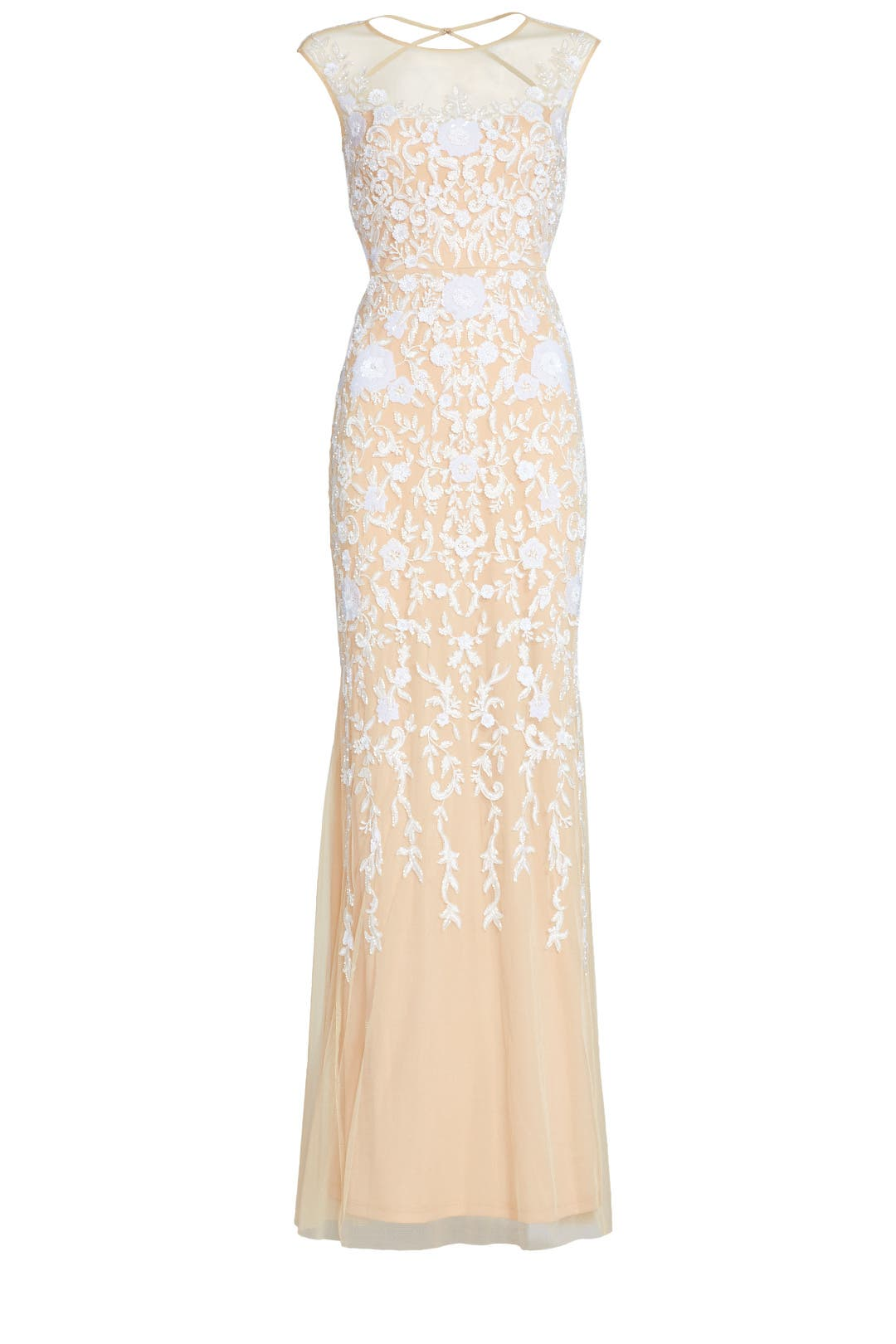 Champagne Gown by Badgley Mischka for $129 | Rent the Runway