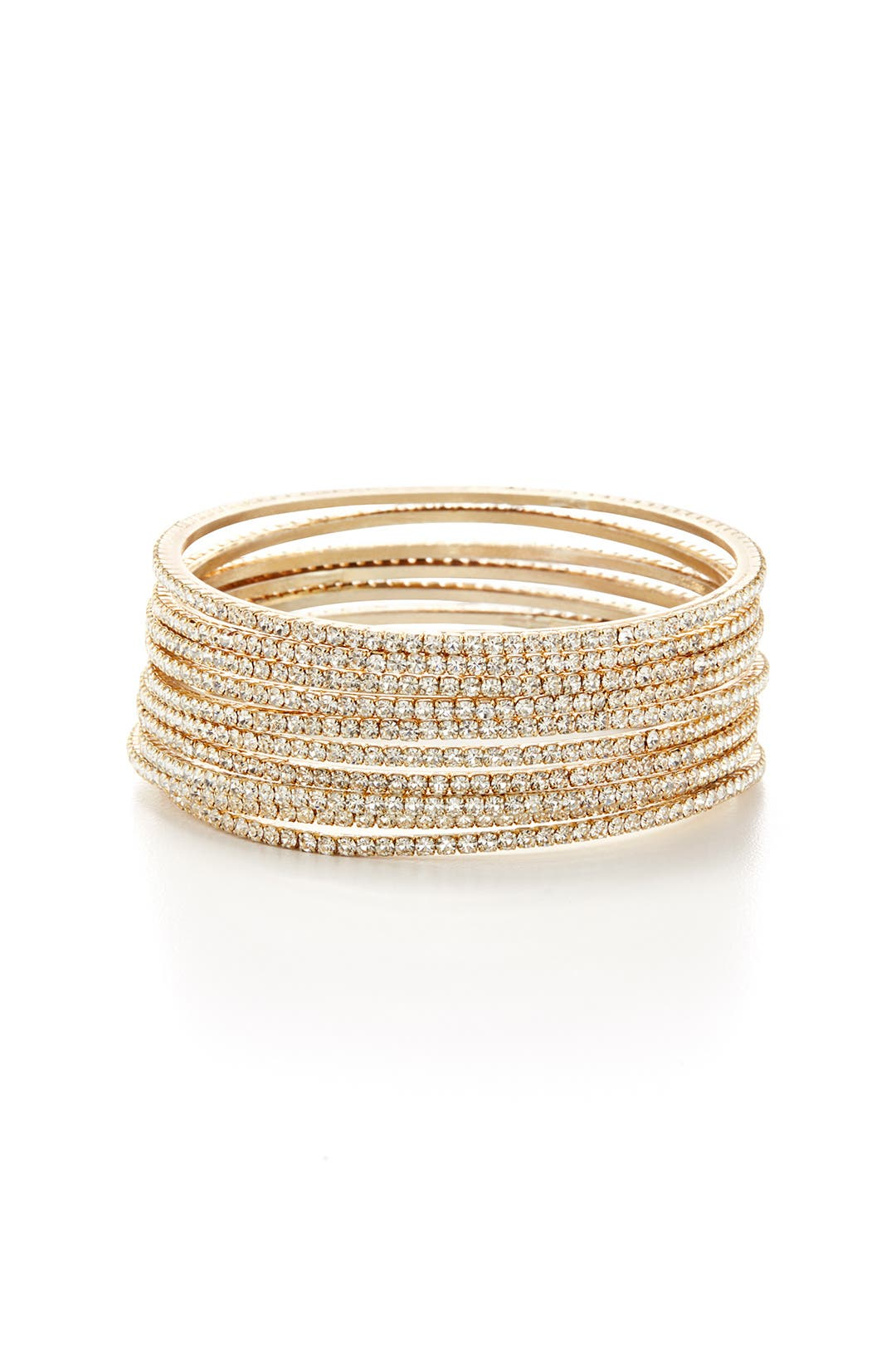 Gold Skyline Bangle Stack by Chamak by Priya Kakkar